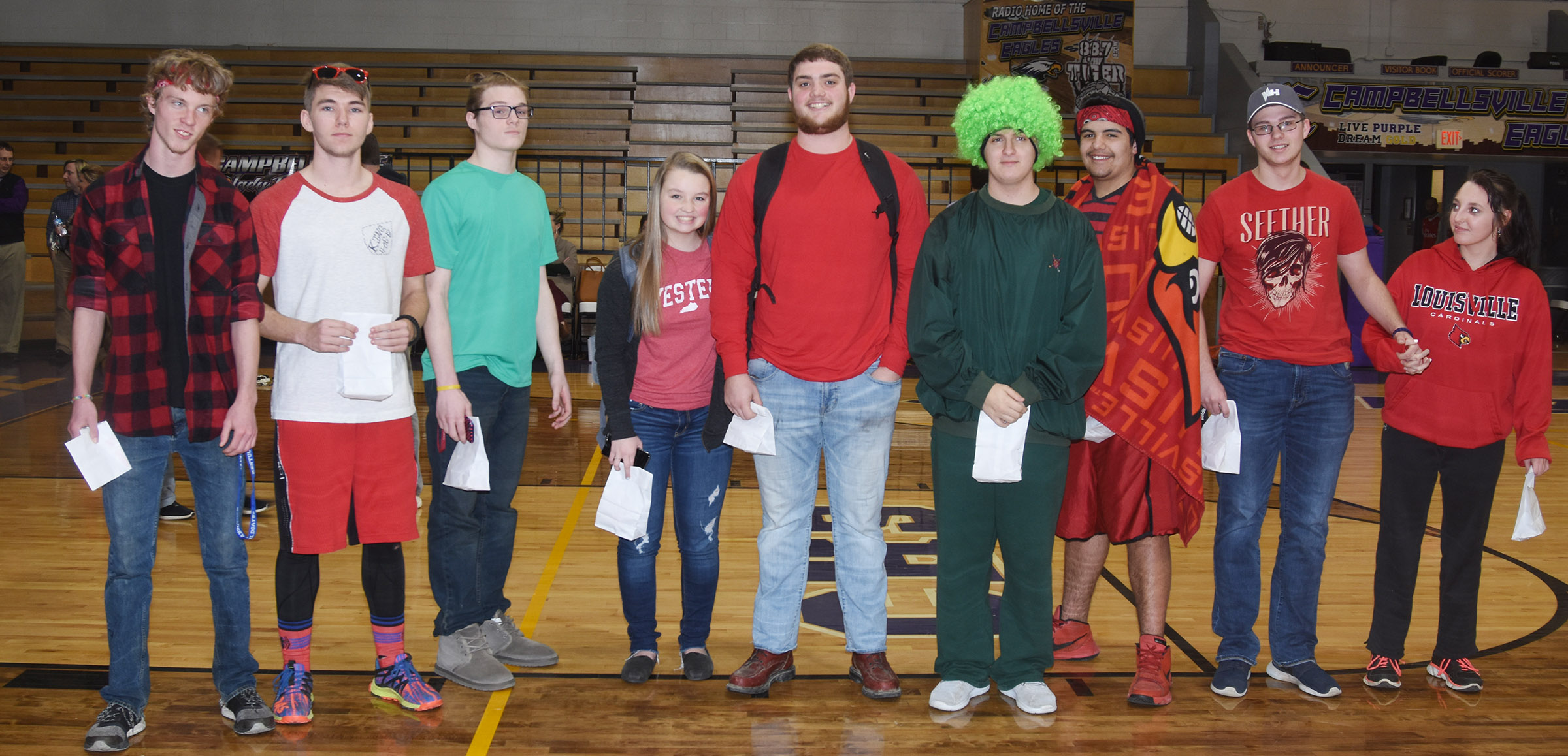 CHS students are chosen as winners for Stoplight Day.