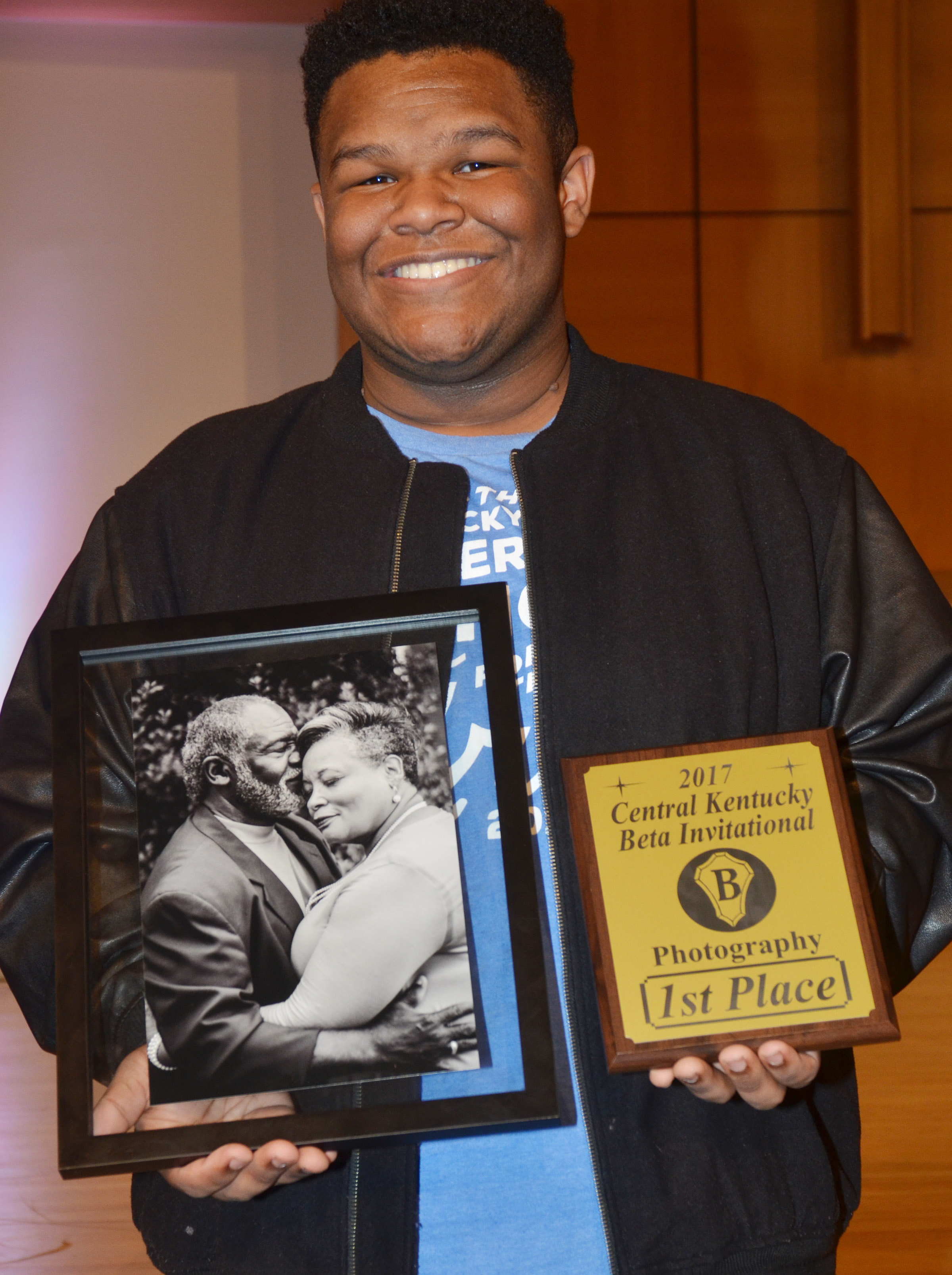 CHS Beta Club members brought home several awards on Thursday, Oct. 19, at the annual Central Kentucky Beta Invitational. Jeremiah Jackson, a junior, won first place in the photography competition.