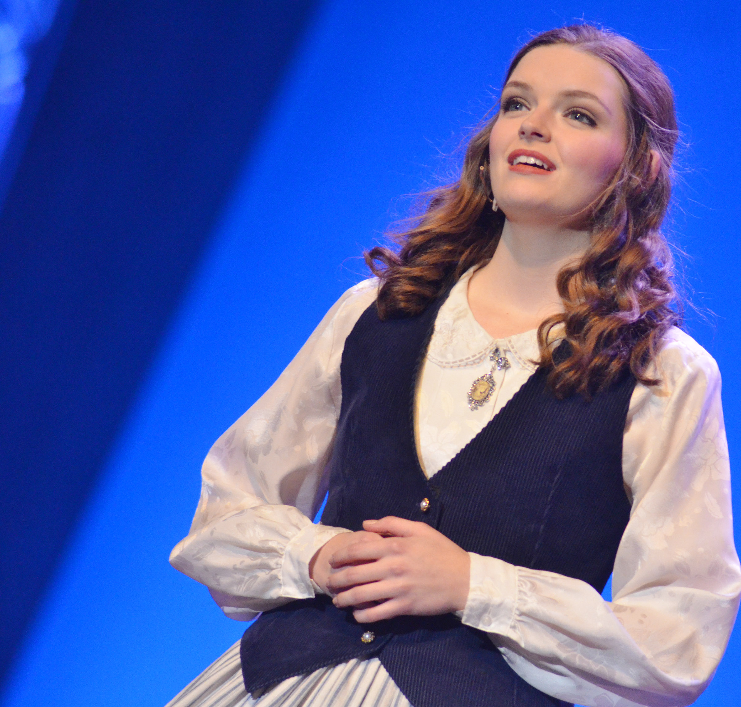 CHS senior Blair Lamb competes in the talent portion of the state DYW program. She was named fourth runner-up.
