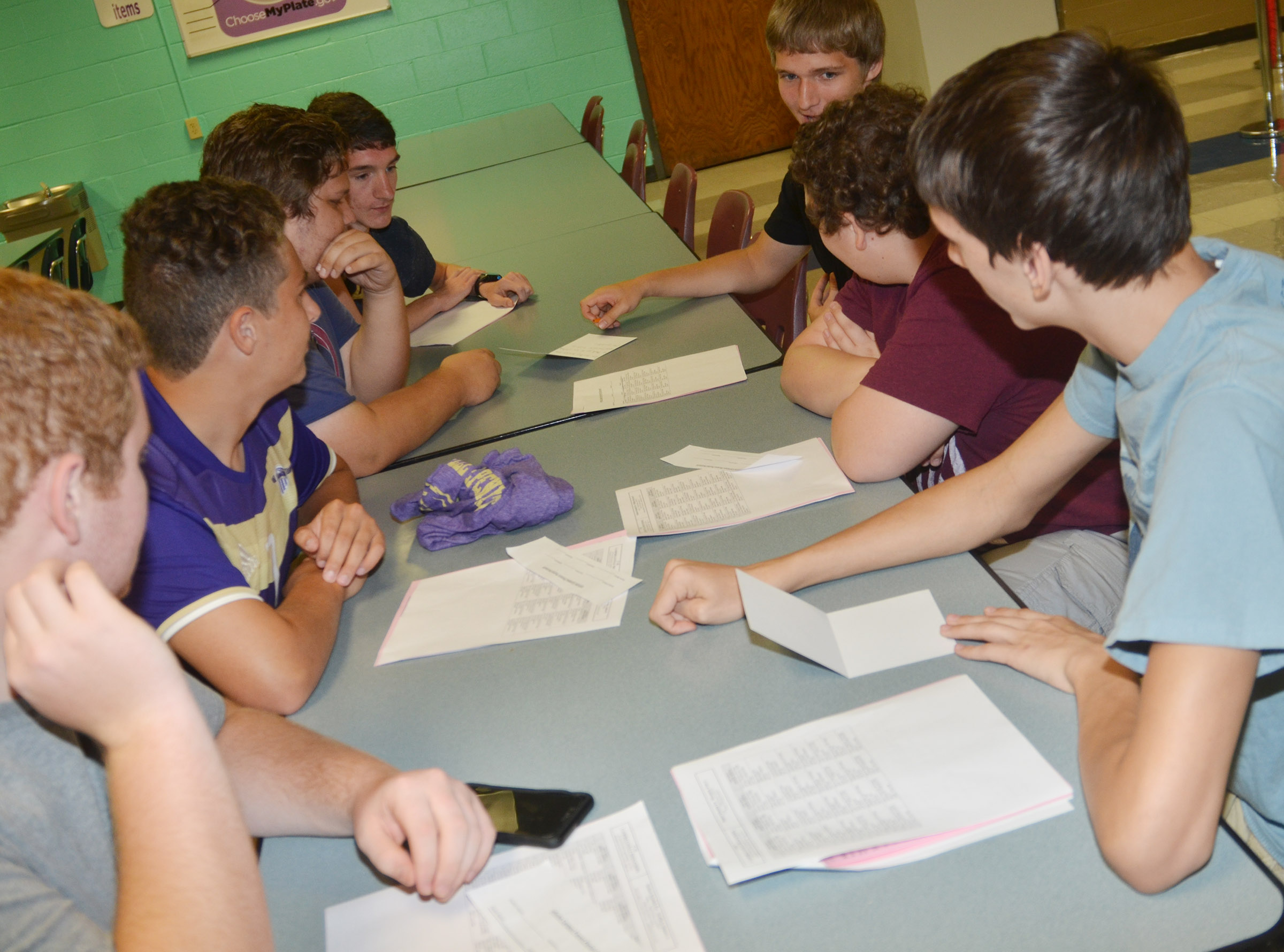 CHS juniors write thank you notes to local businesses.