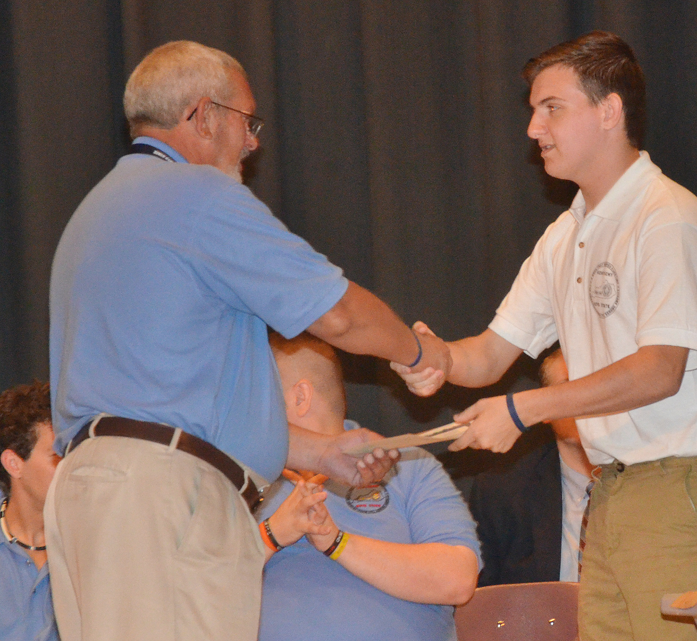 CHS senior Austin Fitzgerald is honored at the Boys State graduation ceremony.