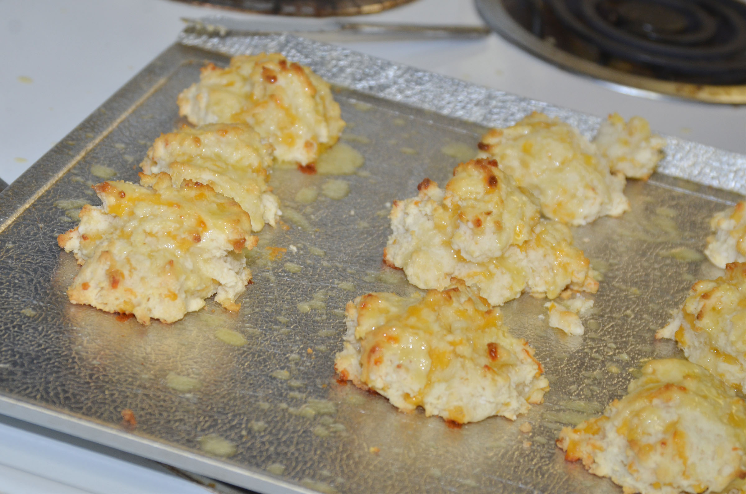 CHS students made these cheesy garlic biscuits in Deanna Campbell's class.