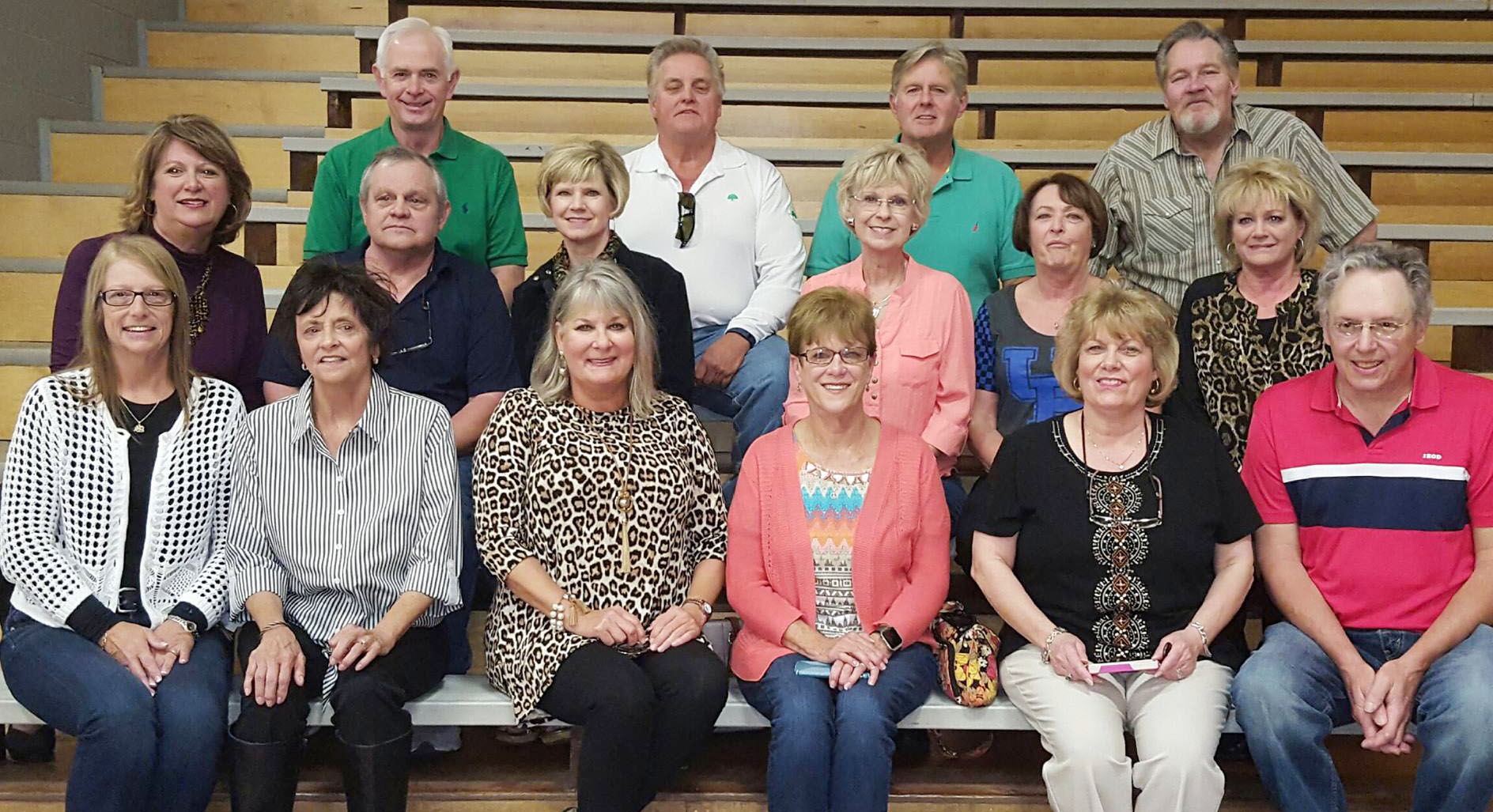 CHS Class of 1971 recently met for a reunion. Those attending are, from left, front, Pat Rafferty, Jamie Shaw, Denise Squires, Robbie Owen, Mitzi McGlocklin and David Sparks. Middle, Donna Cooper, Steve Buckner, Donna Bayers, Janet Morris, Shirley McGlocklin and Tibby Miller. Back, Freddie Cornett, Roger Cook, Dwayne Squires and Mike McKinley.