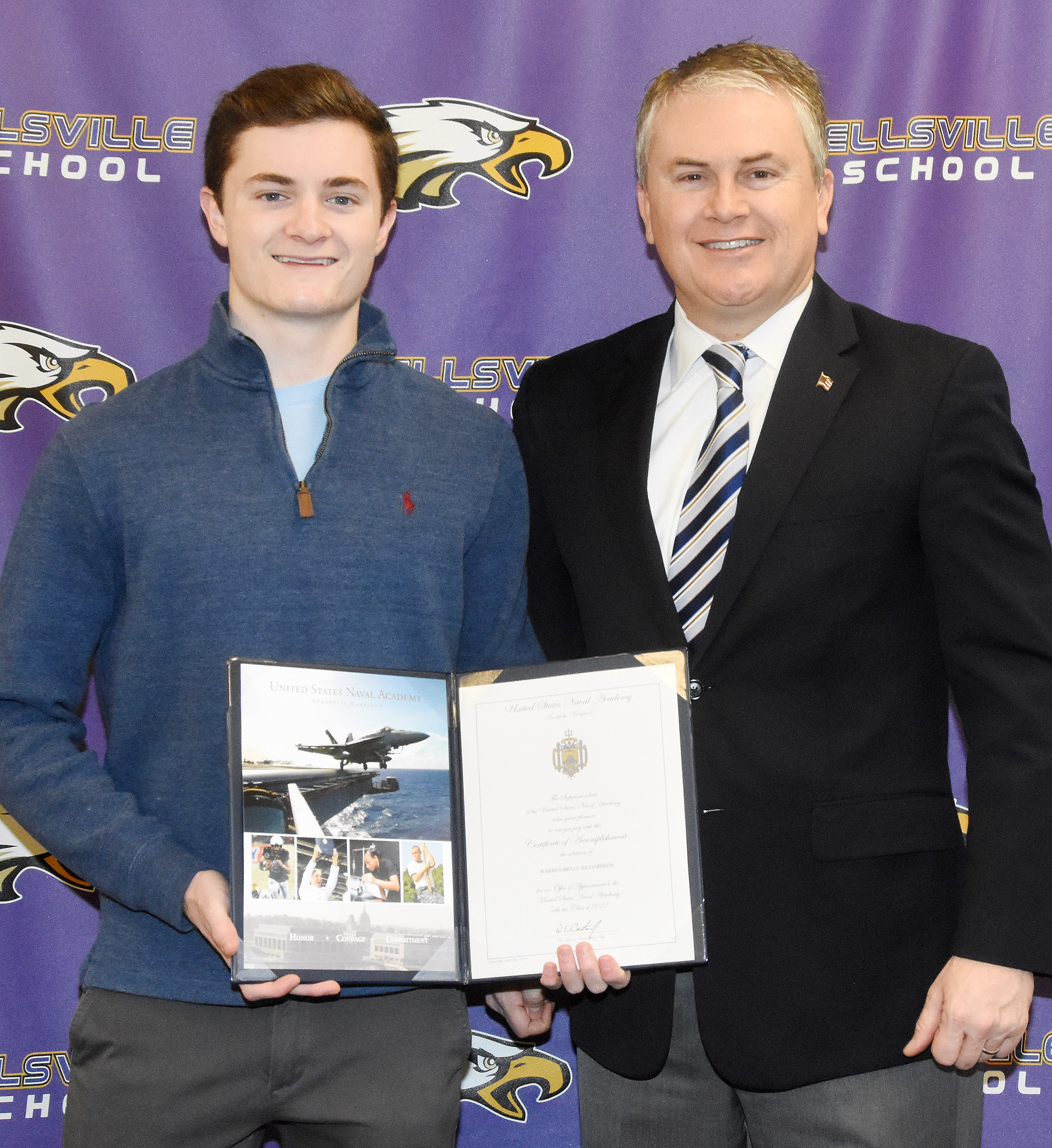 Campbellsville High School senior Bryce Richardson has been appointed to the U.S. Naval Academy, based on a nomination from U.S. Rep. James Comer, R-Ky. Comer came to CHS on Tuesday, Jan. 23, to meet with Richardson.