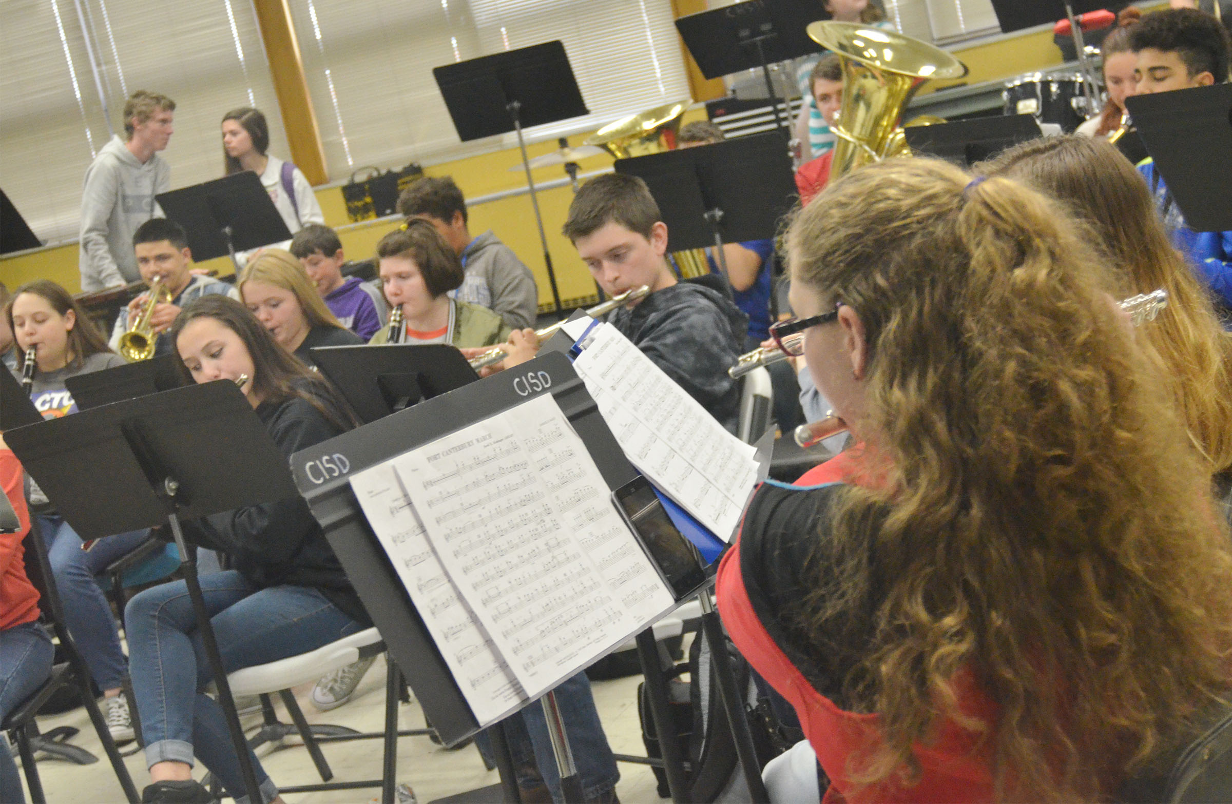 "CHS senior Alexis Underwood and her band mates play ""Fort Canterbury March."""