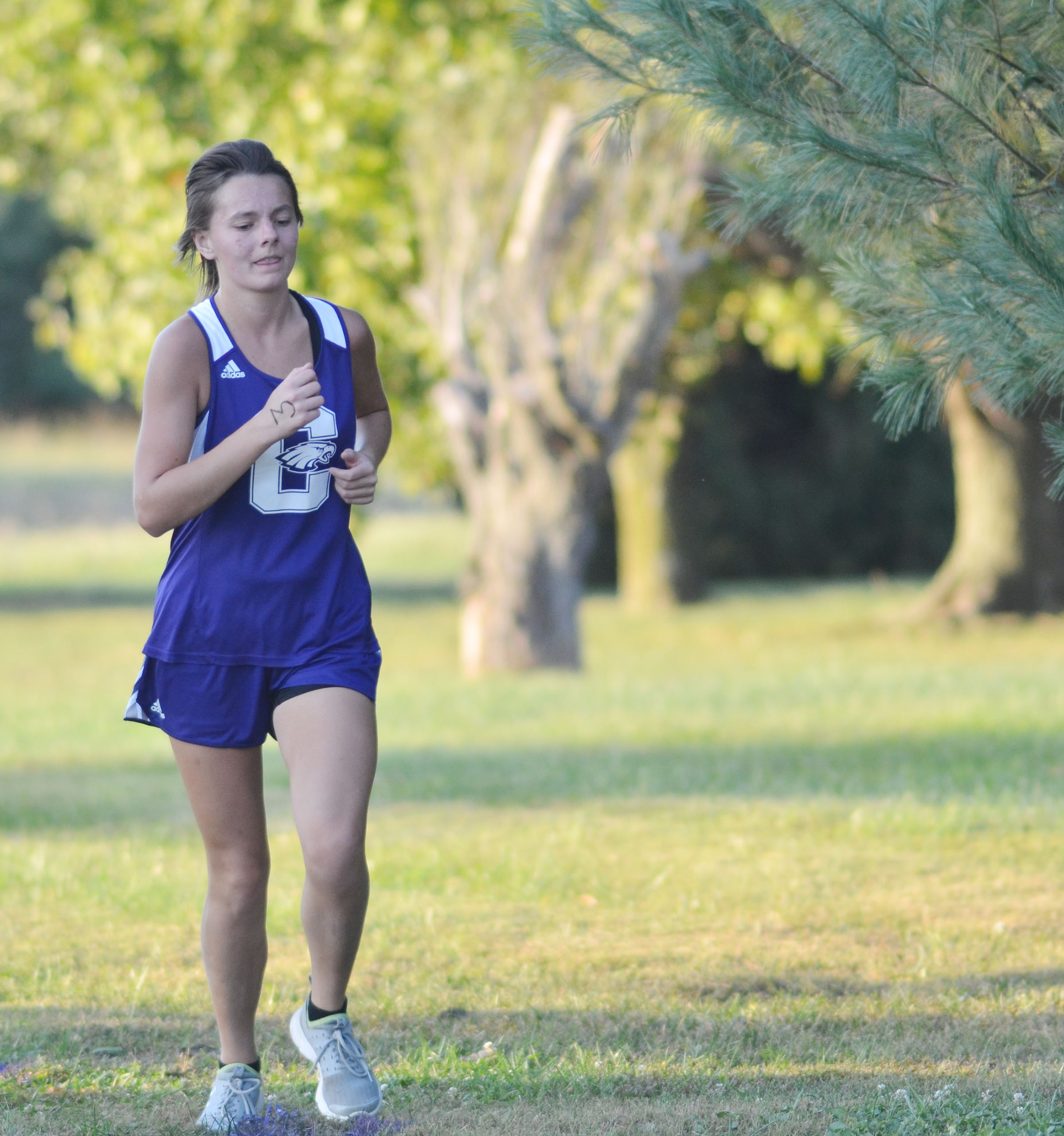 CHS senior Kyrsten Hill runs.