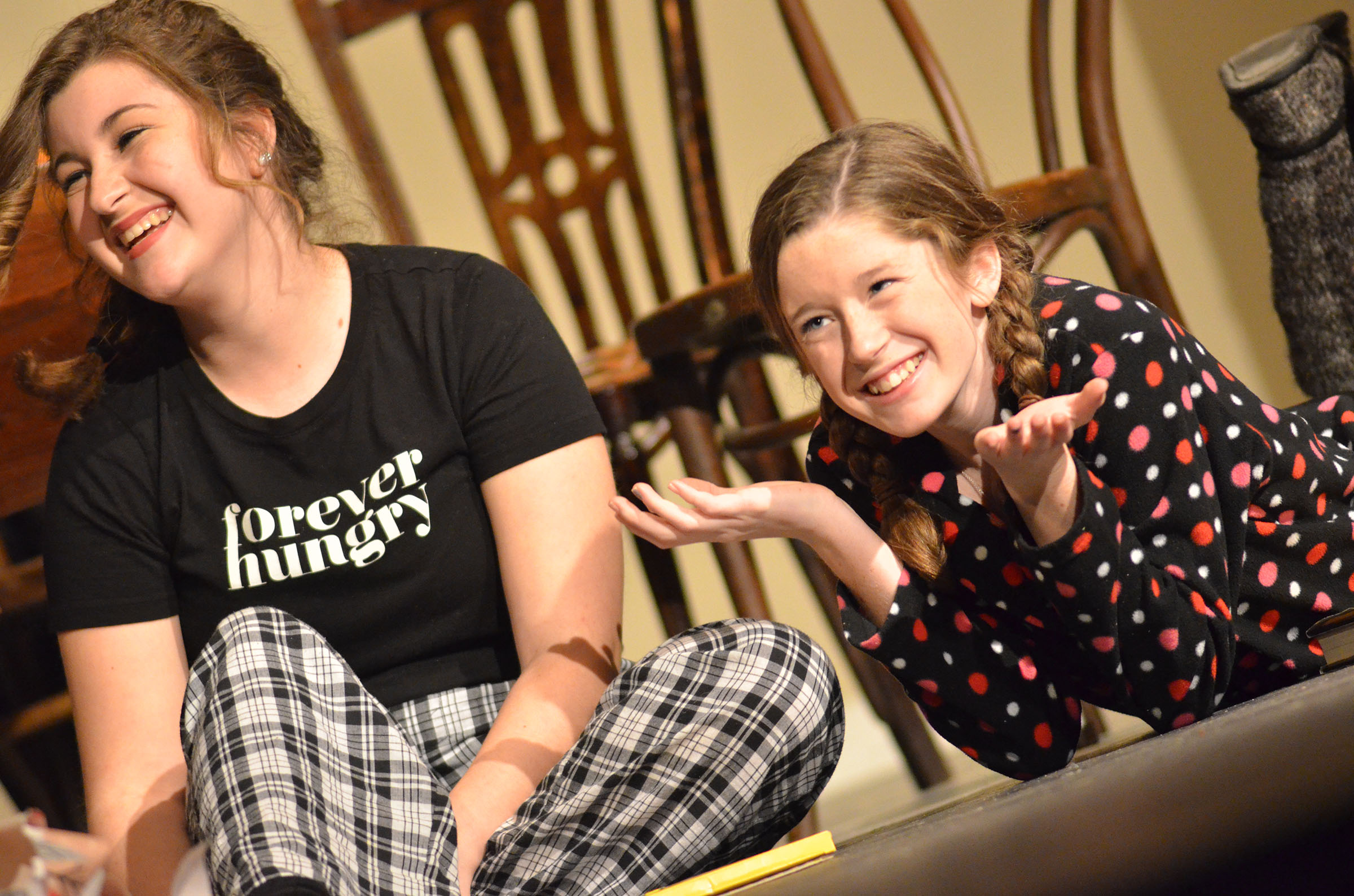 "Campbellsville High School freshman Gracyne Hash, at right, will play Belinda Cratchit in an upcoming production of the classic play ""A Christmas Carol."""