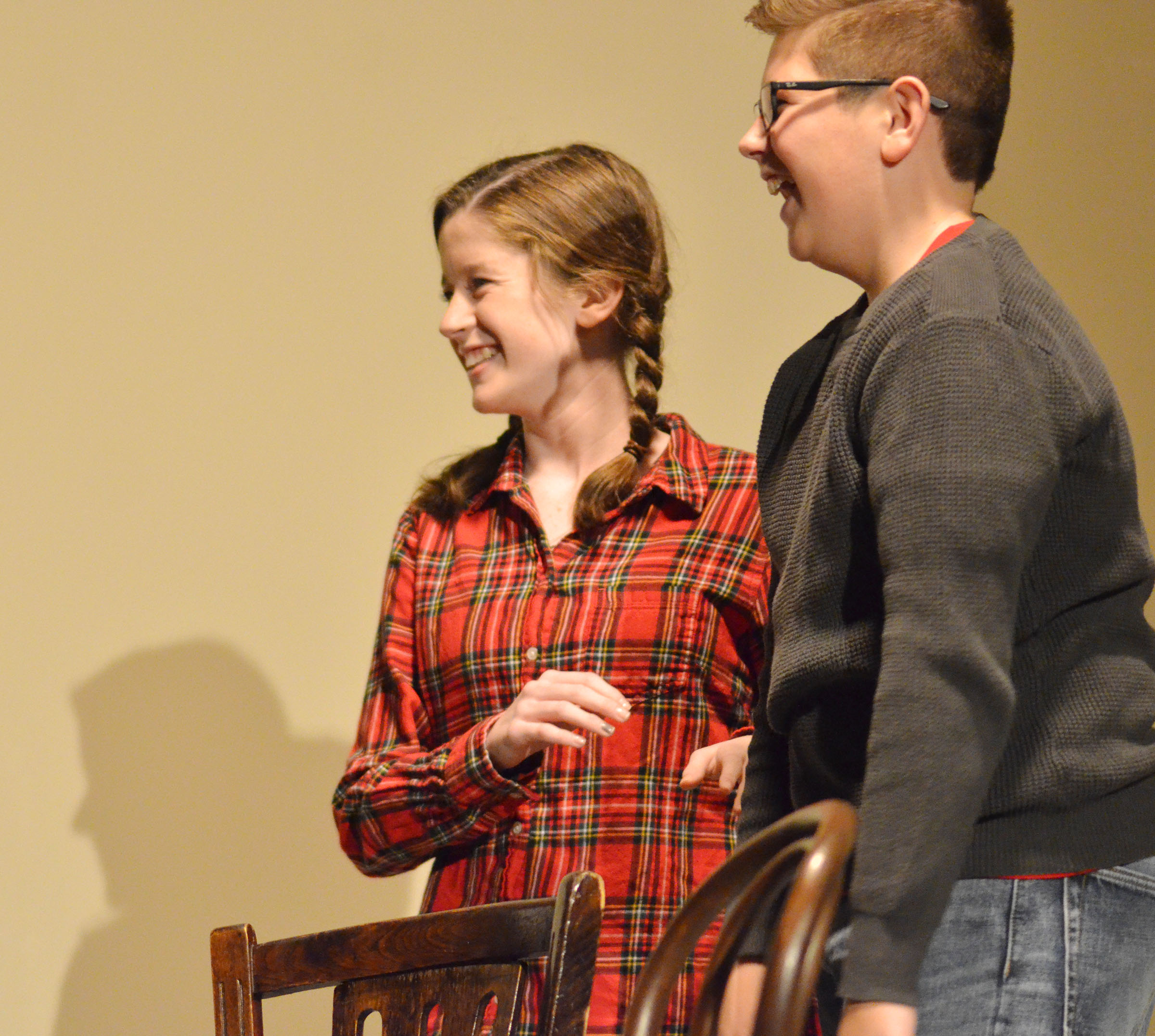 "Campbellsville High School freshman Gracyne Hash, at left, will play Belinda Cratchit in an upcoming production of the classic play ""A Christmas Carol."""