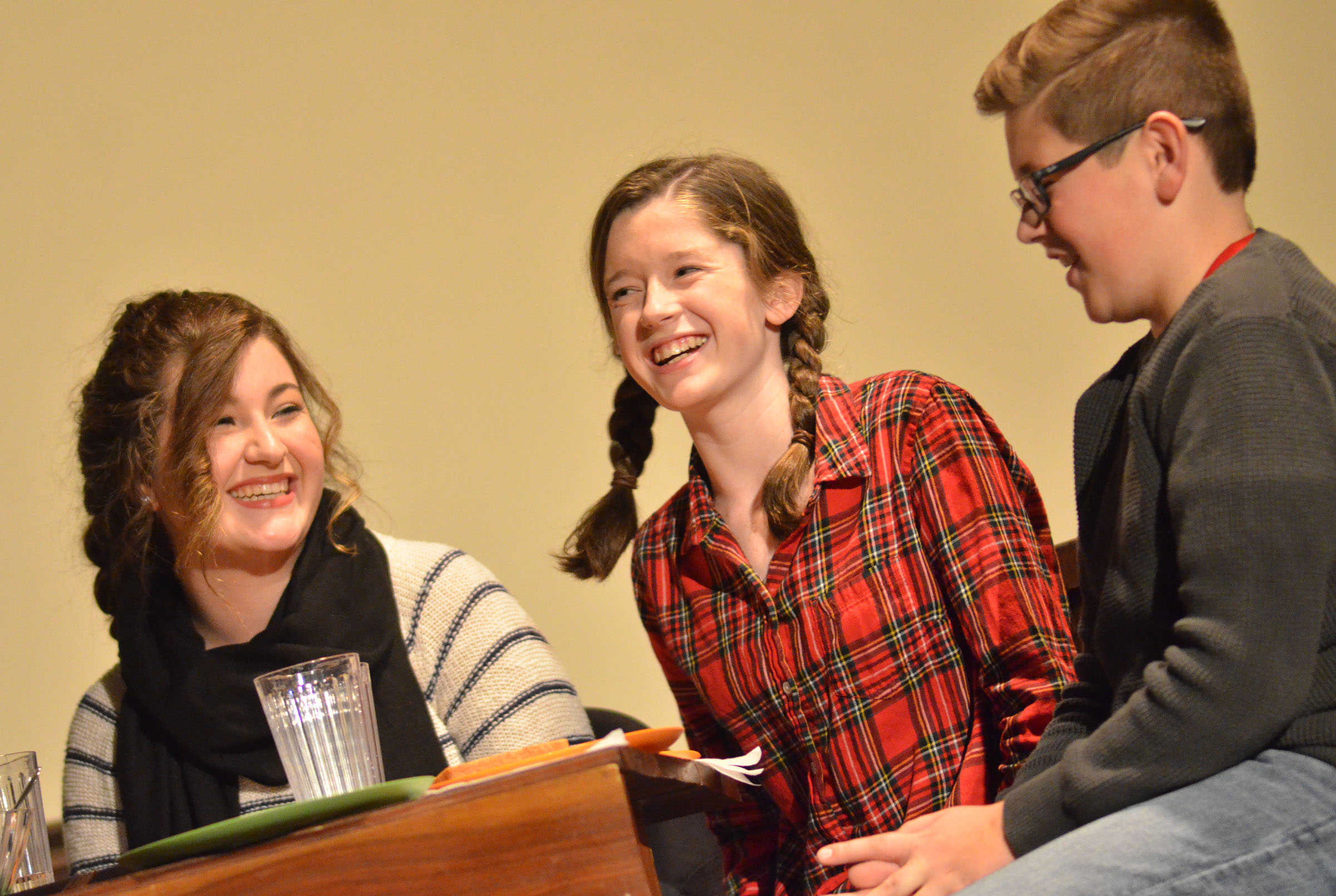 "Campbellsville High School freshman Gracyne Hash, center, will play Belinda Cratchit in an upcoming production of the classic play ""A Christmas Carol."""
