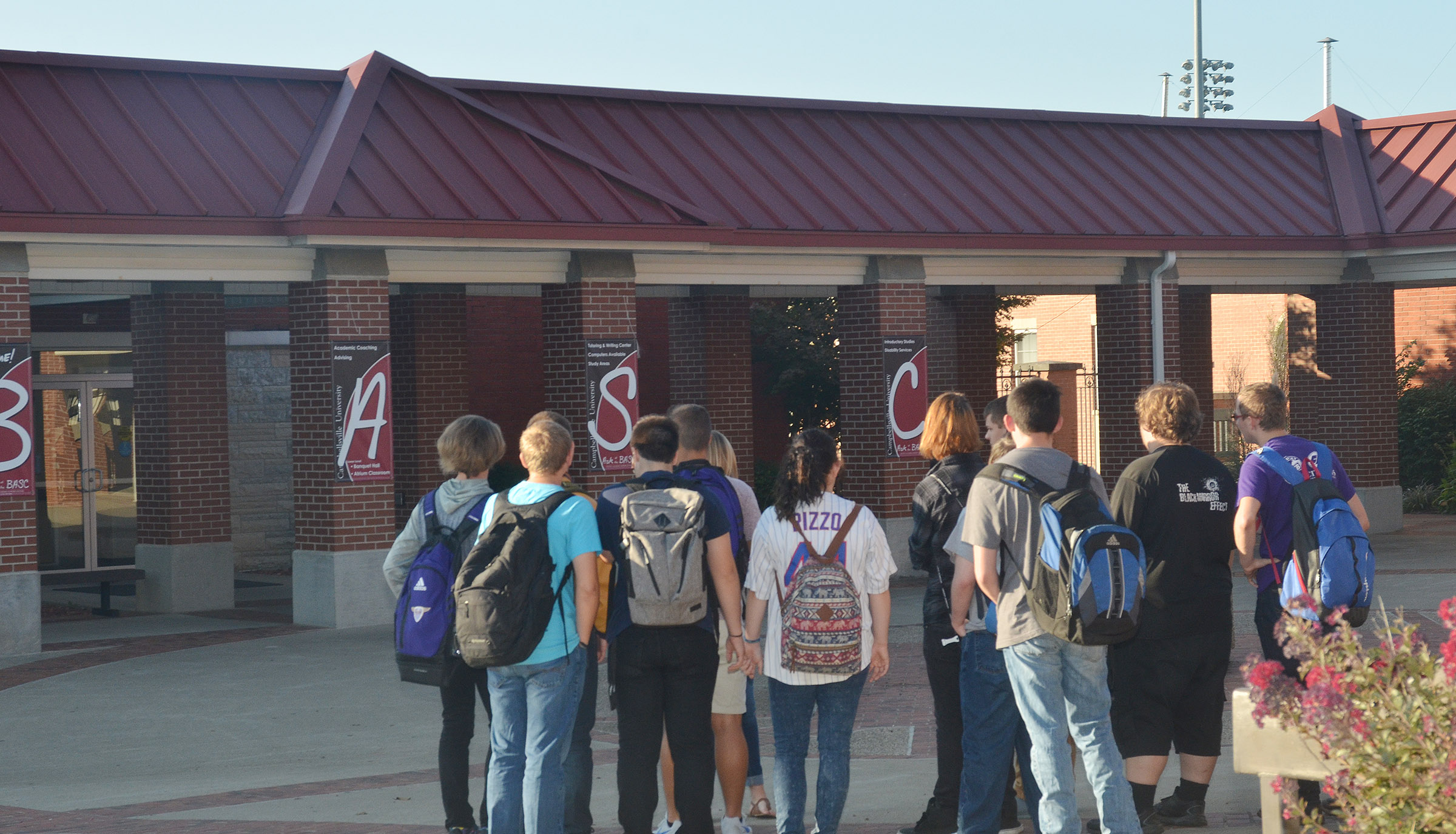 CHS juniors and seniors take a tour of the Campbellsville University campus.