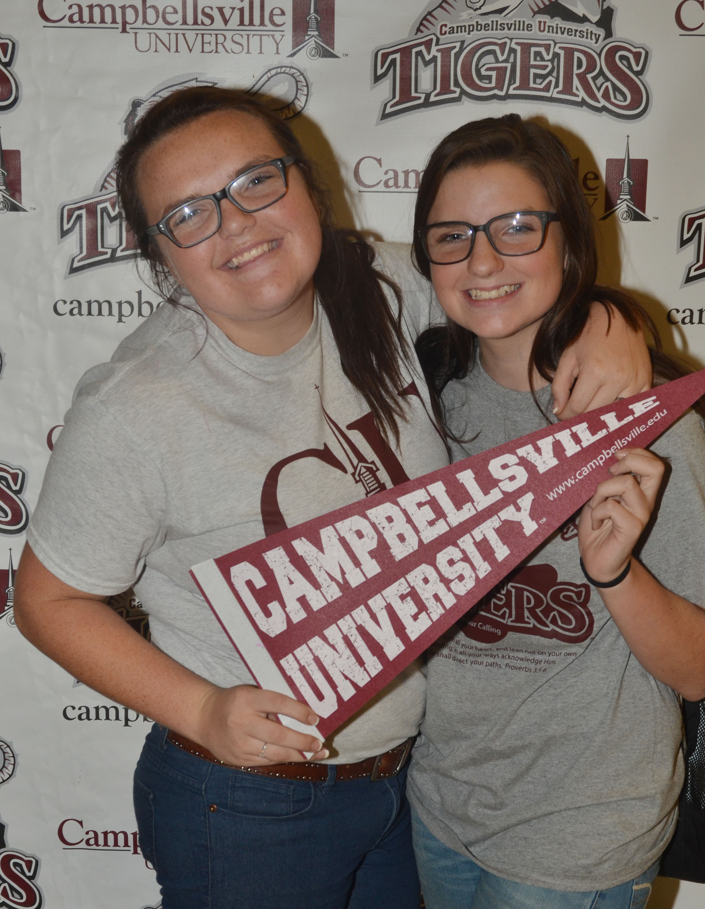 Masi Wilson, at left, who graduated from CHS in May 2015 and now attends CU, poses for a photo with her sister, Sydney, who is a freshman at CHS.