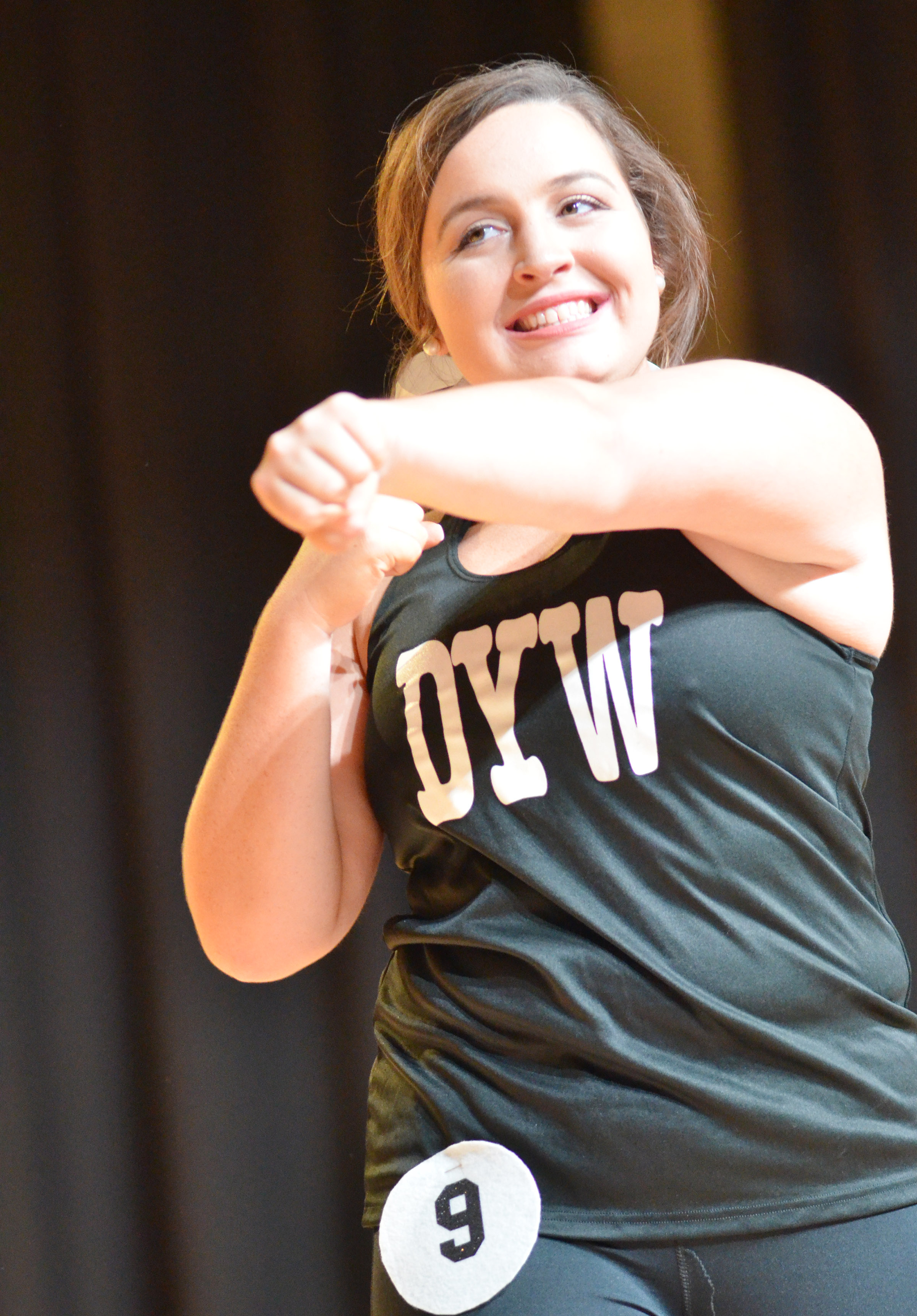 CHS senior Caitlin Bright competes in the fitness portion of the Taylor County DYW program.