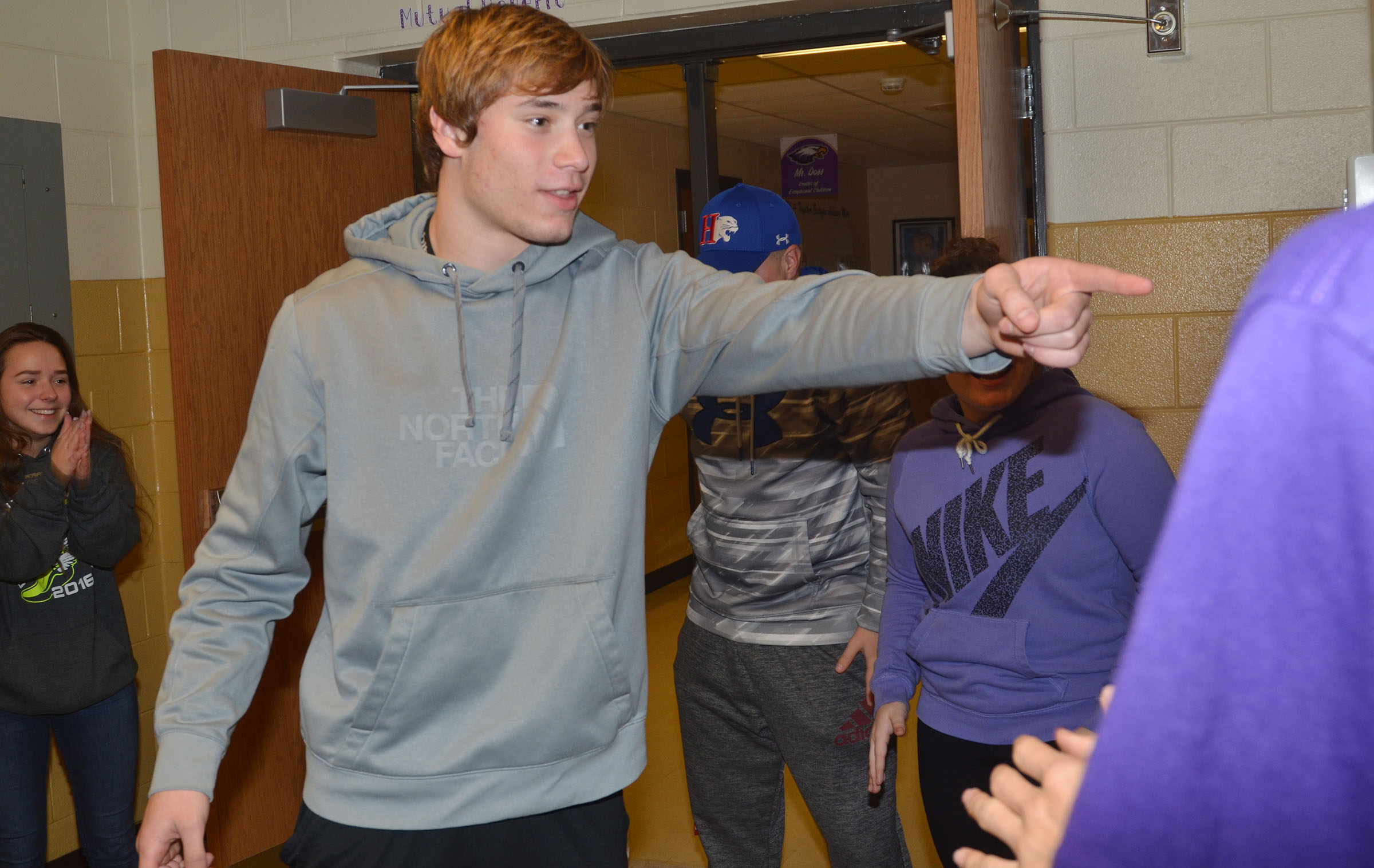 CHS FCA member Tristan Johnson, a sophomore, plays a game at a recent meeting.