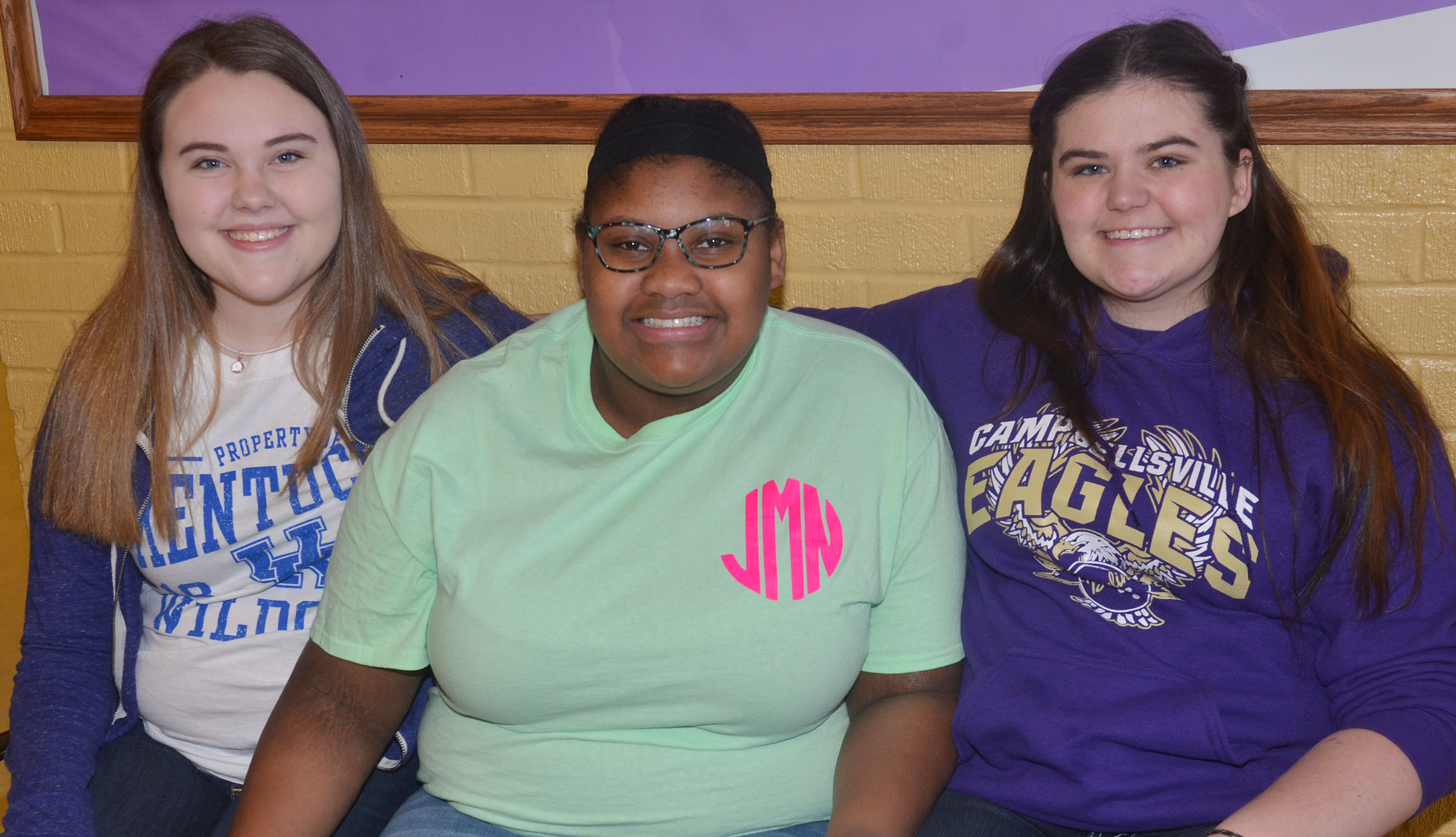Three CHS FCCLA students were recently elected to serve as regional officers. Those elected include, from left, junior Haley Fitch, who will serve as vice president of individual programs; freshman Jakyia Mitchell, who is vice president of community service; and junior Vivian Brown, who will serve as vice president of parliamentary law.