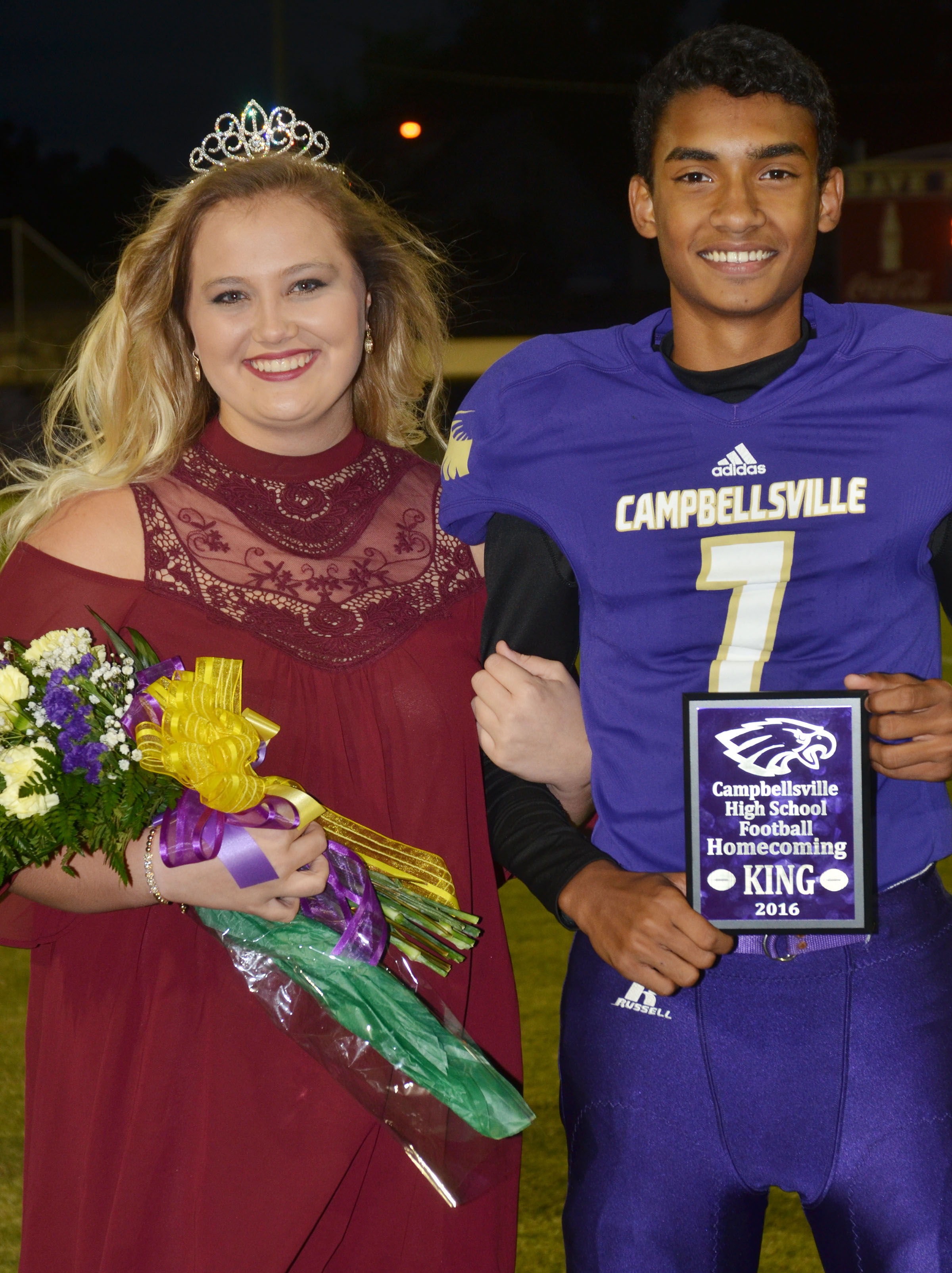 CHS seniors Brenna Wethington and Daniel Silva are this year's football homecoming king and queen.