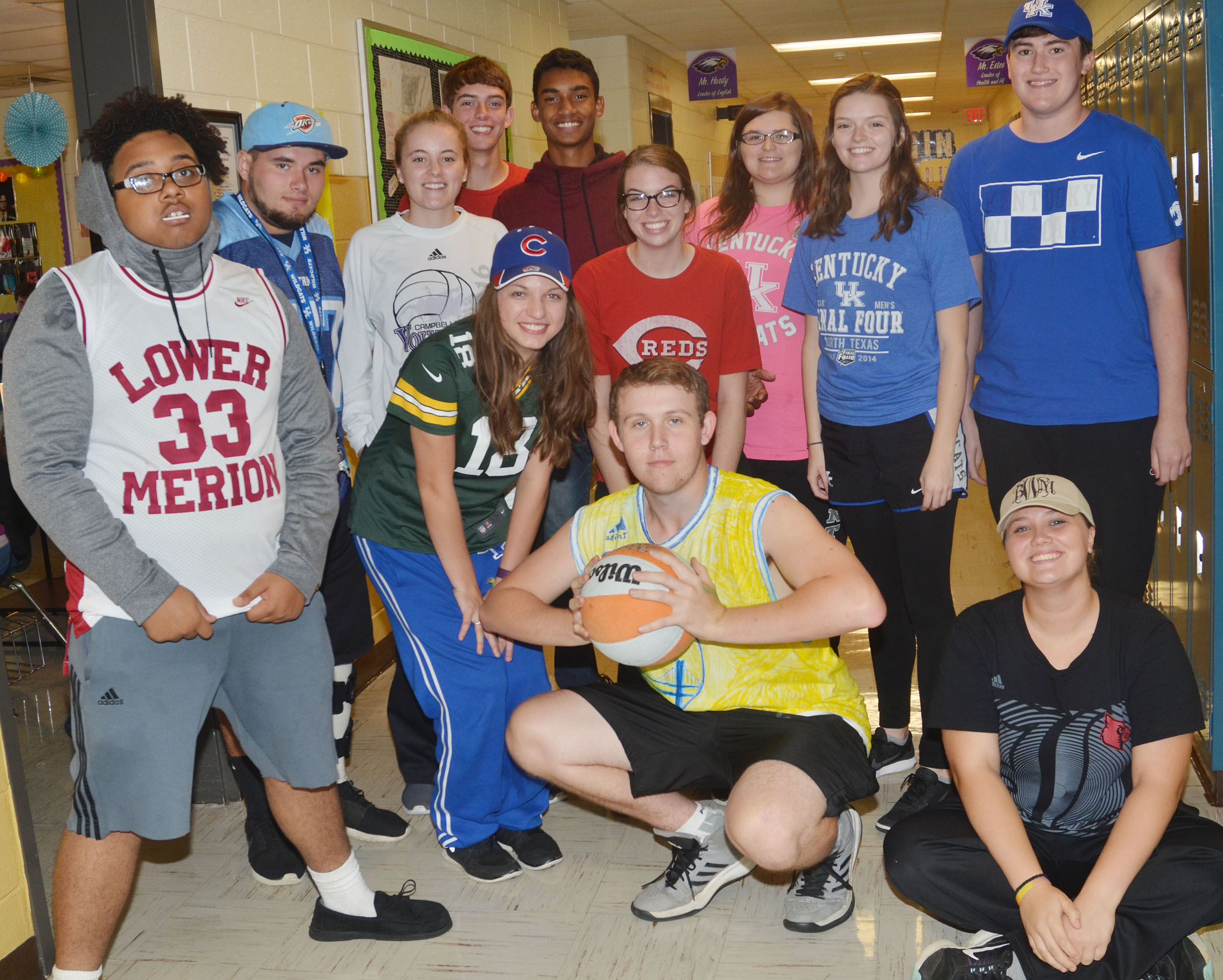 CHS students dress in their sports gear for Bandwagon Day.