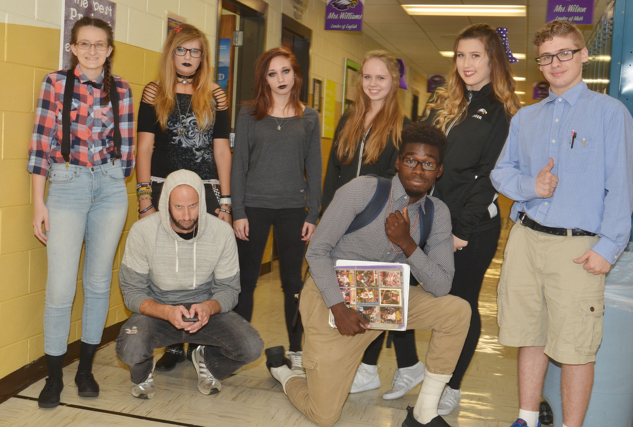 CHS students dress for High School Stereotype Day.