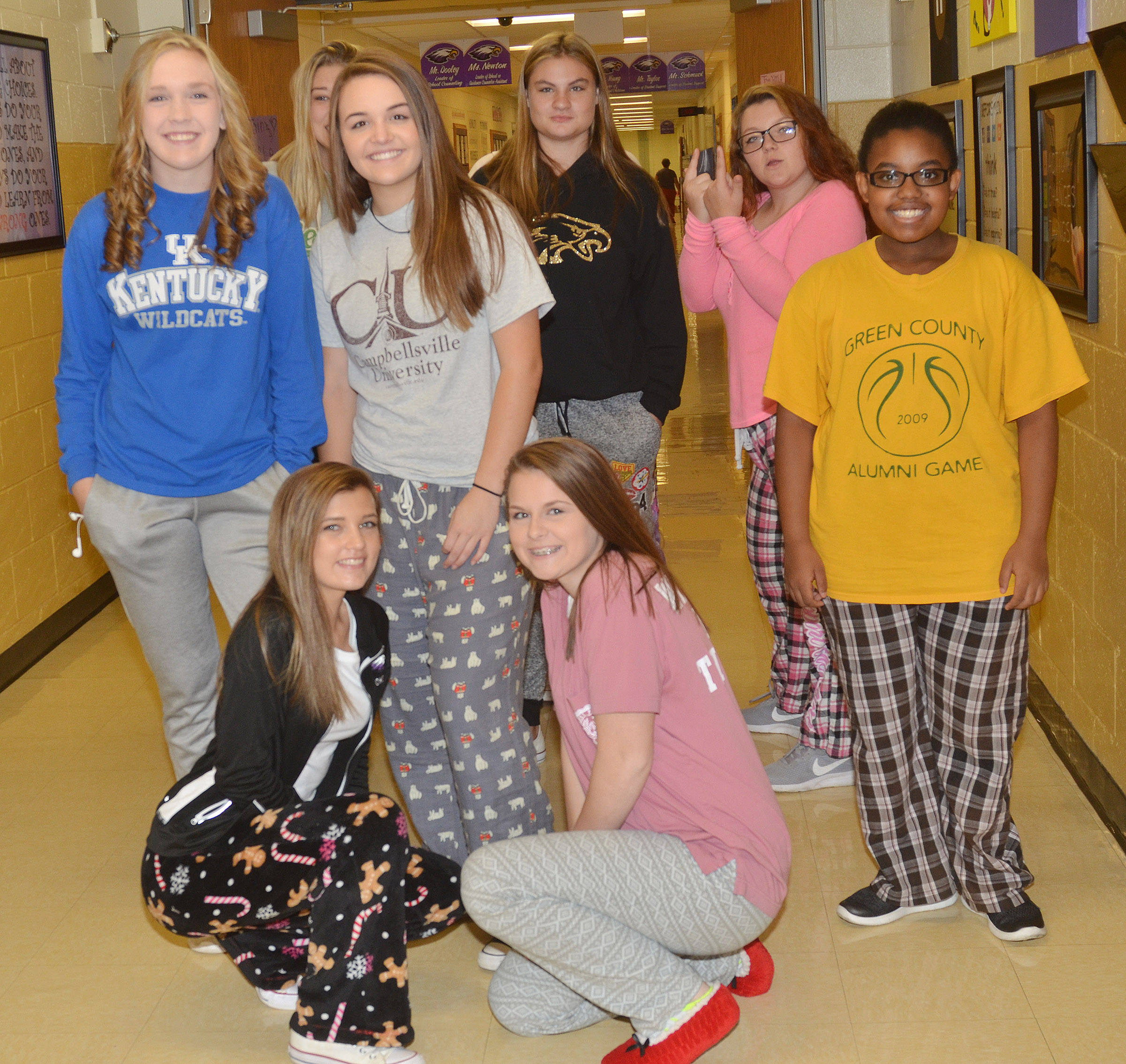 CHS students dress for Roll Out of Bed Day.
