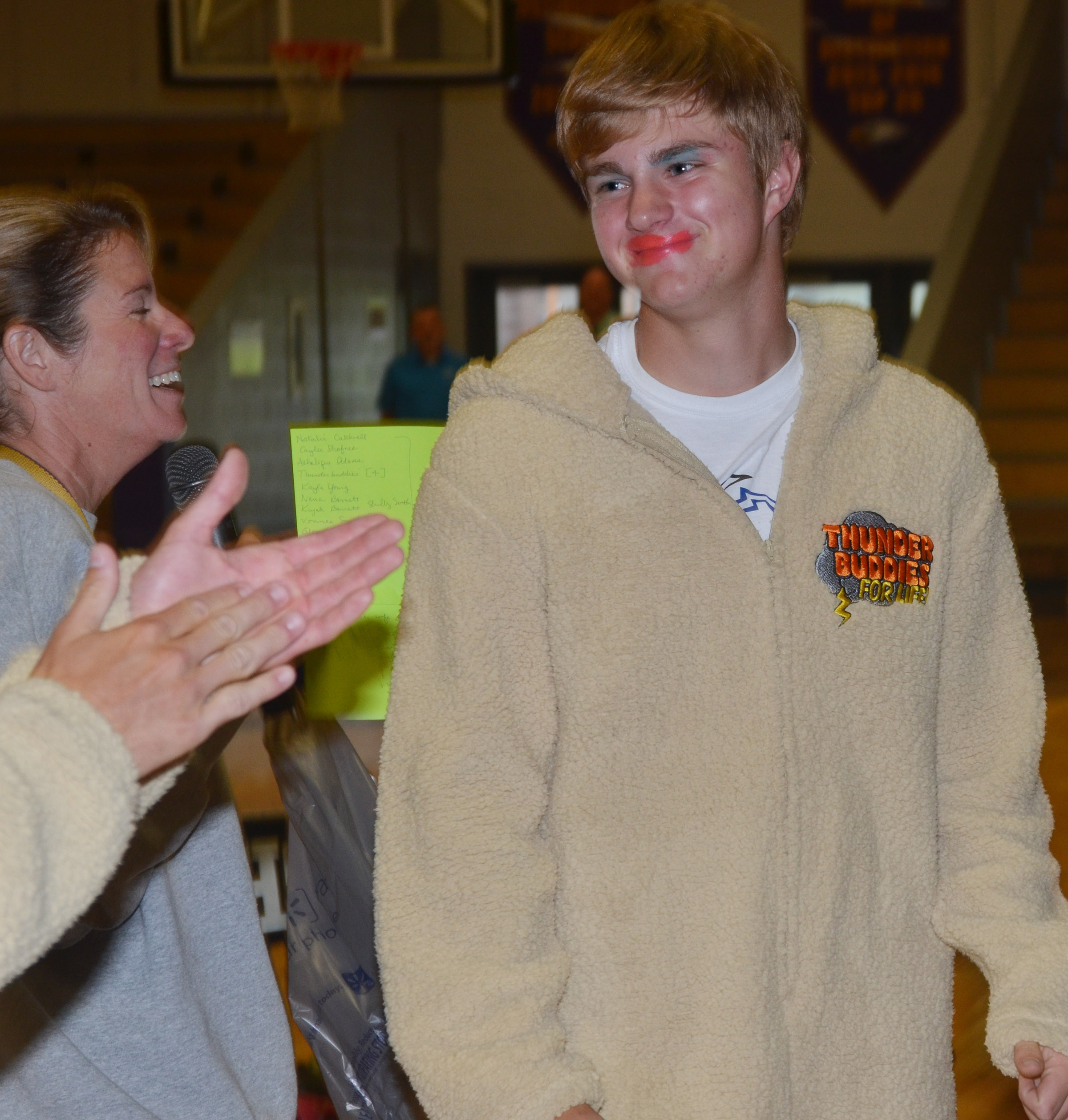 CHS students and teachers play the Makeup Game.