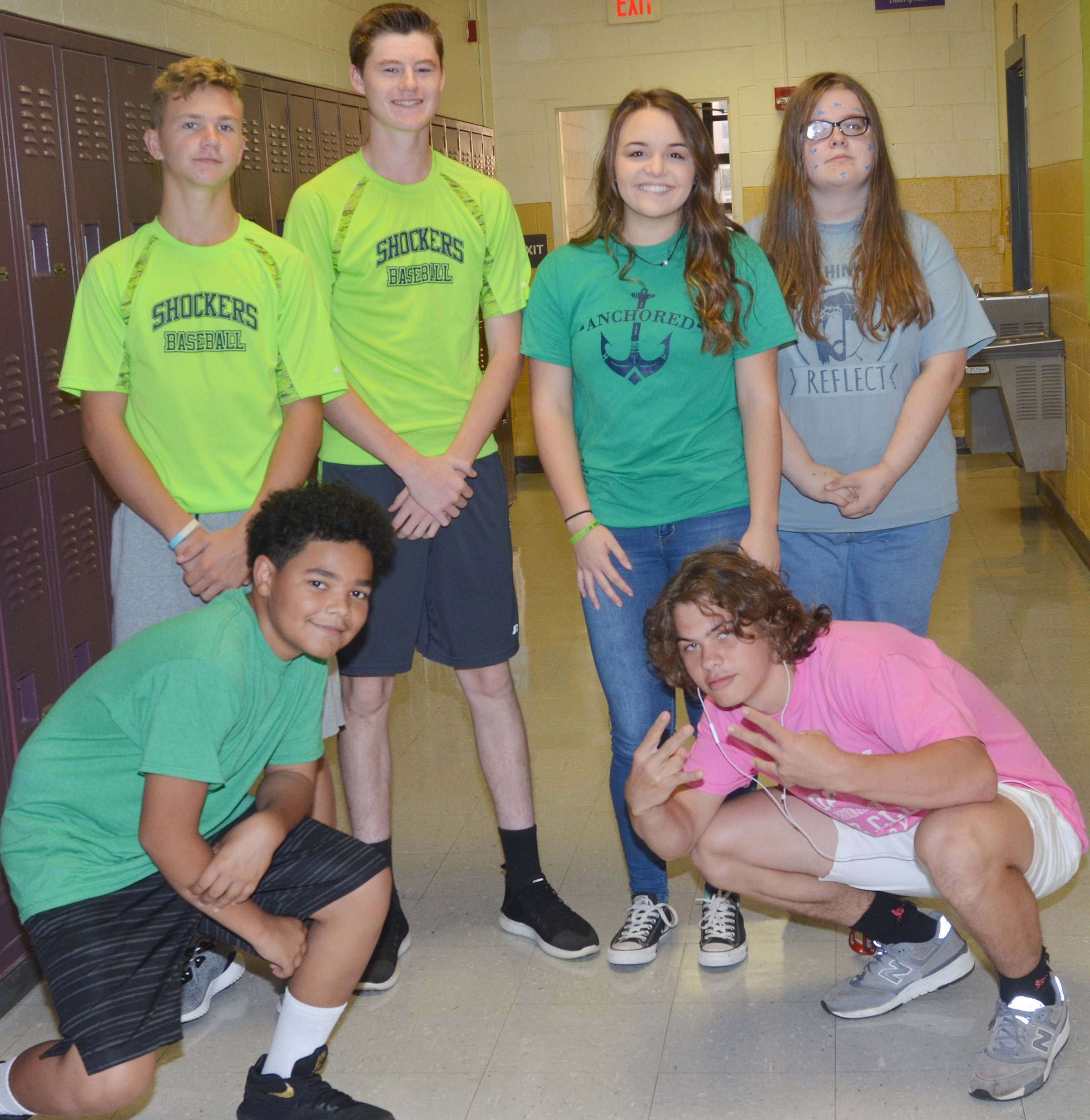 CHS students dress for Color Wars Day.