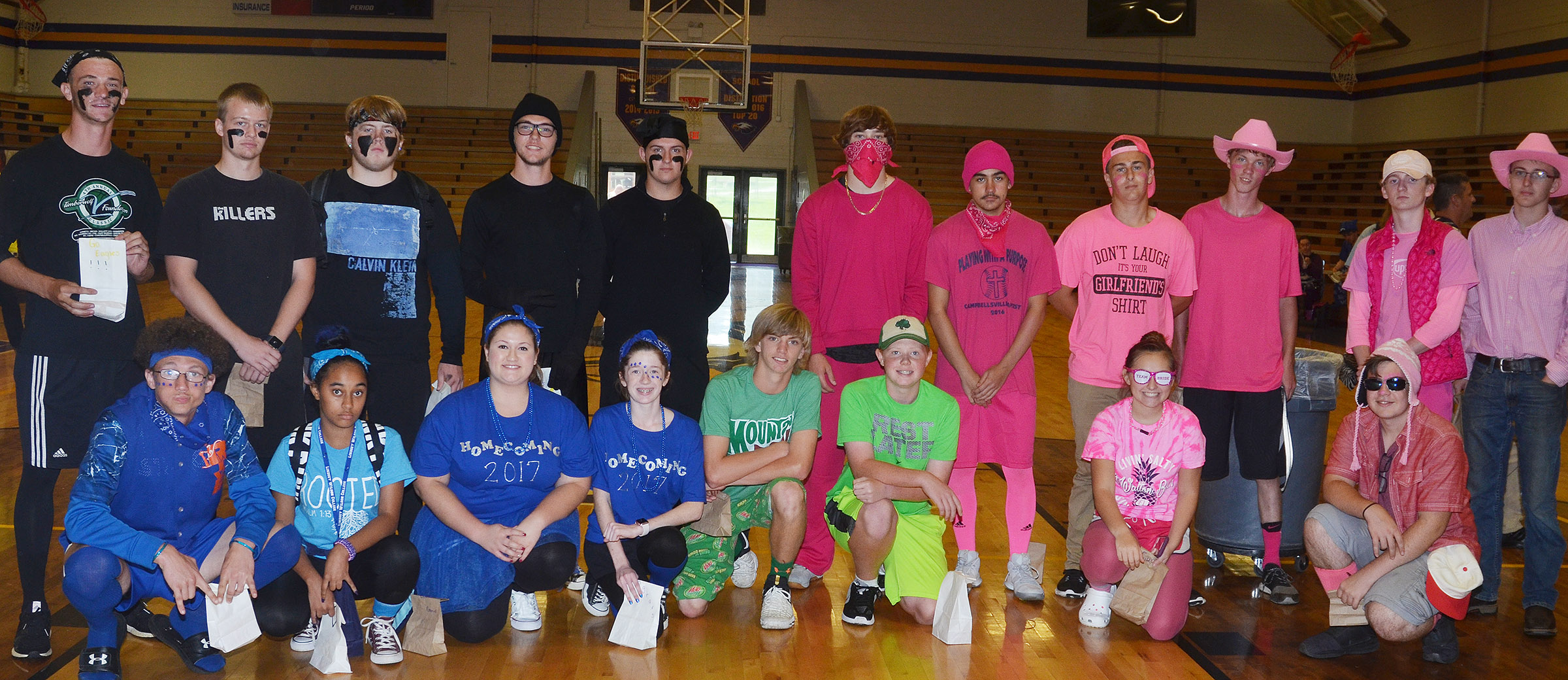 CHS students pictured are spirit bag winners for Color Wars Day.