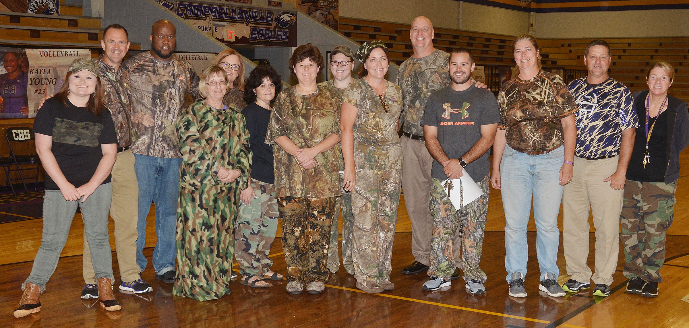 CHS staff members dress for Color Wars Day.