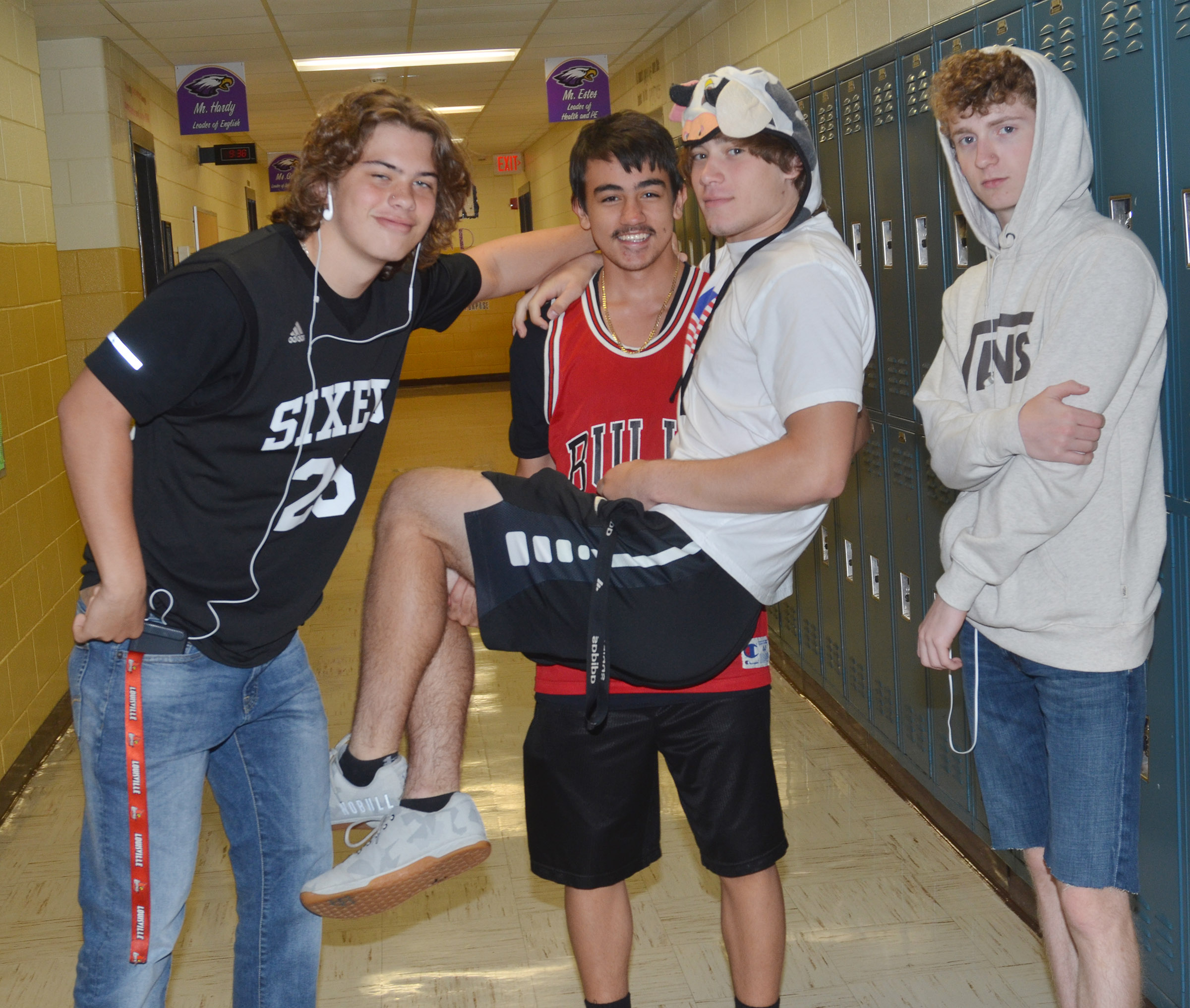 CHS and staff members students dress for Through the Screen Day.