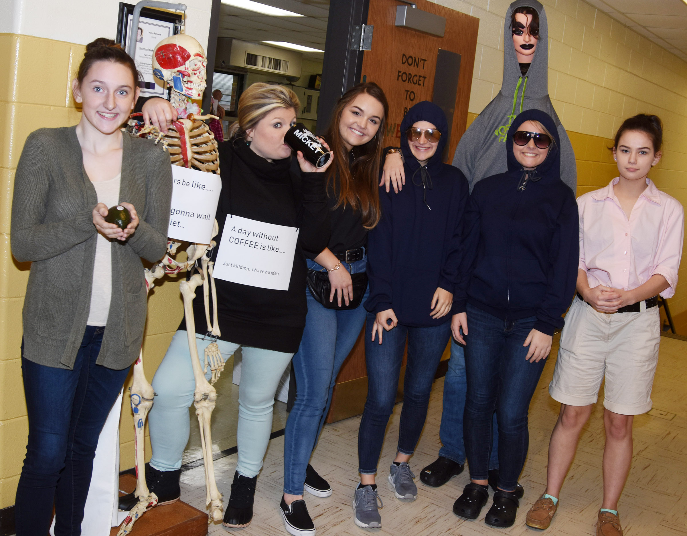 CHS students and staff members dress for Meme Monday.
