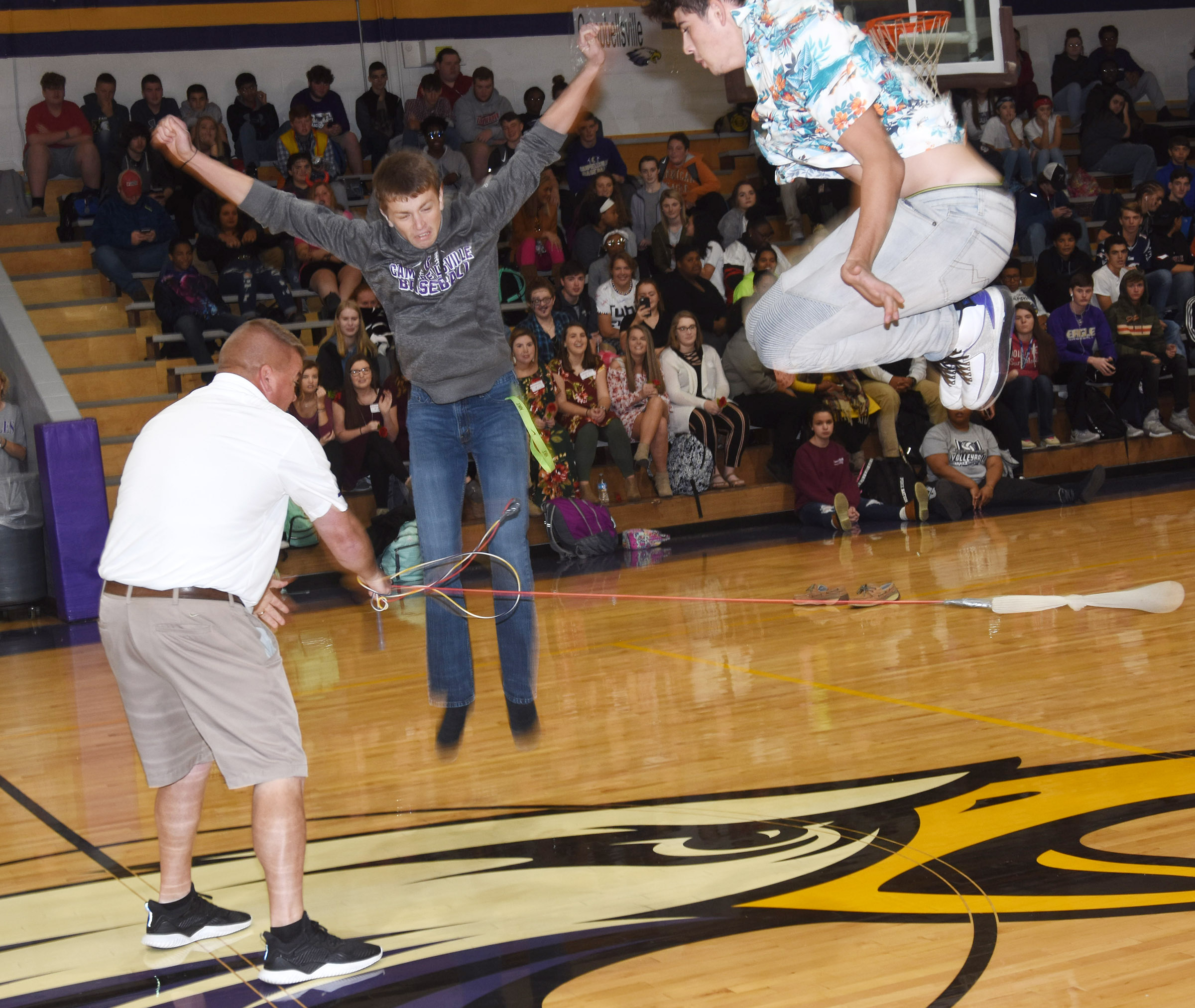 CHS students play Jake the Snake. The junior class won.
