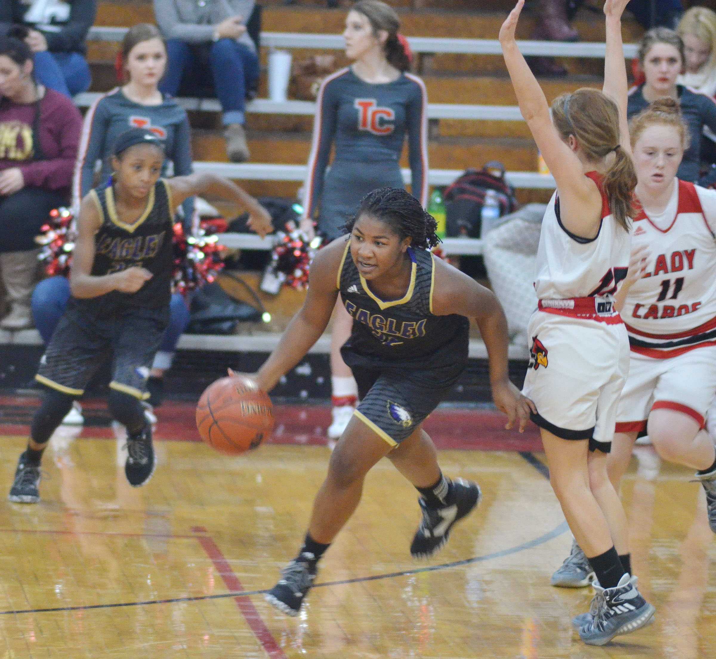 CHS junior Nena Barnett steals the ball.