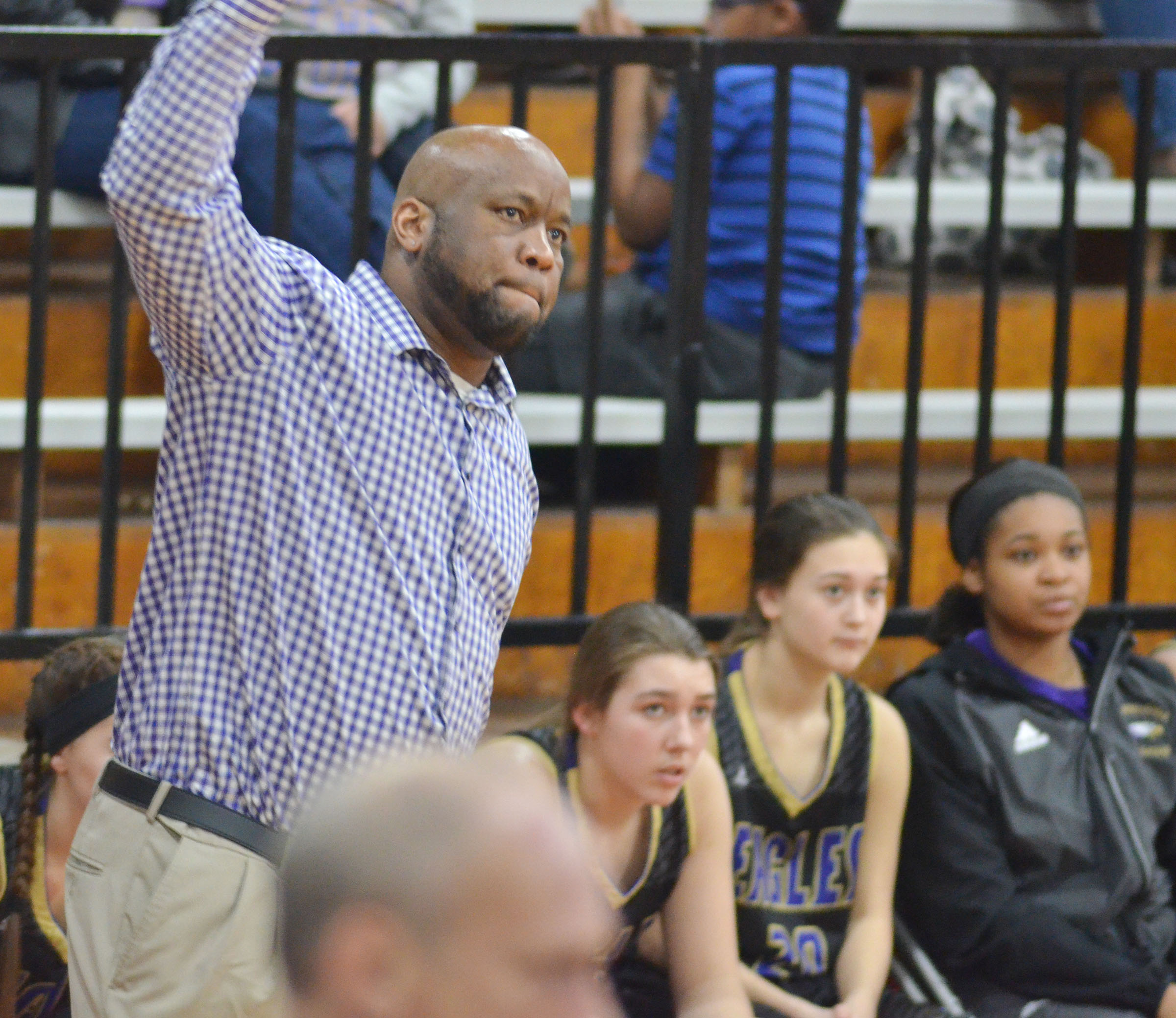 CHS girls' head basketball coach Anthony Epps watches a shot.