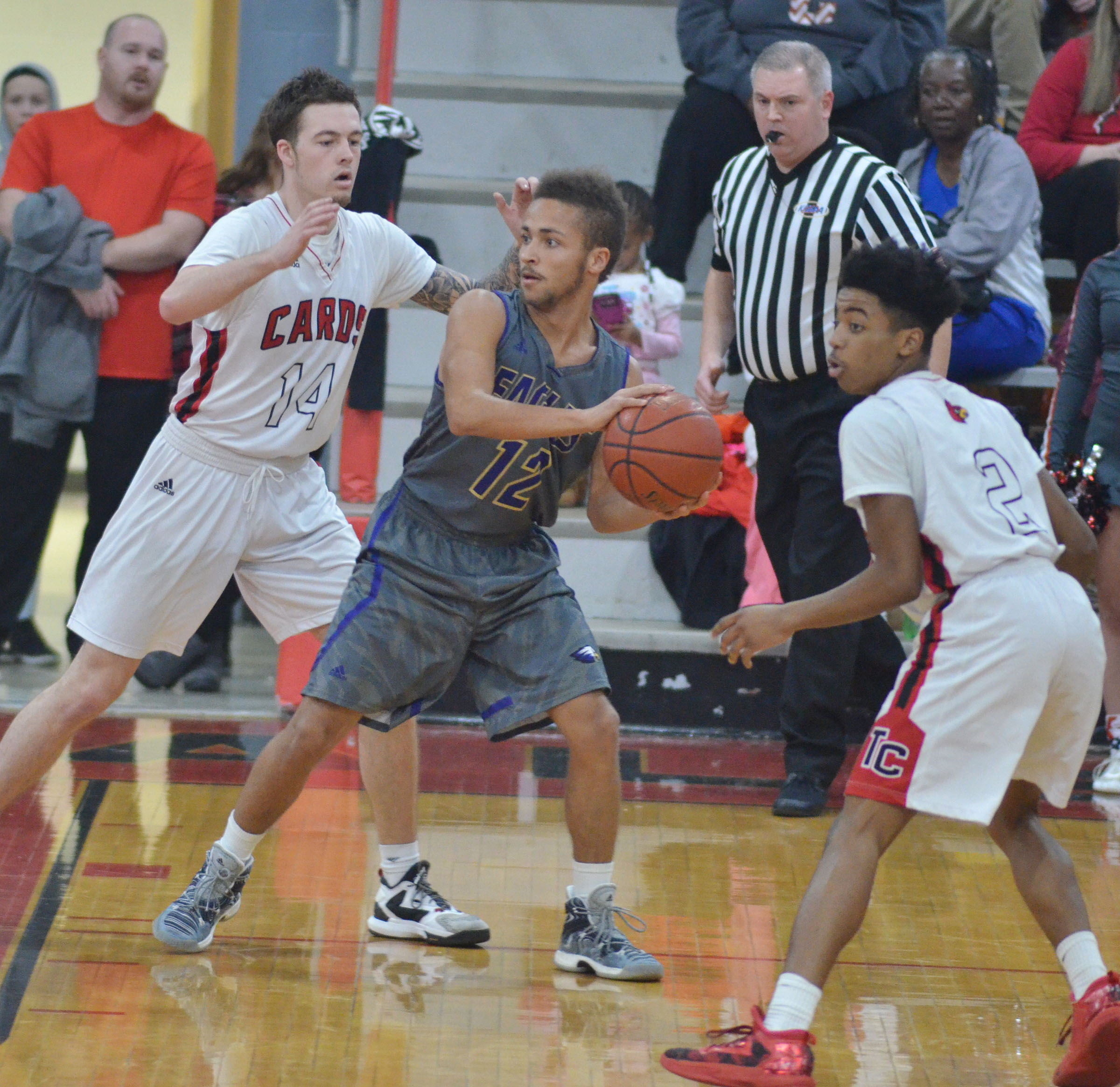 CHS junior Ethan Lay protects the ball.