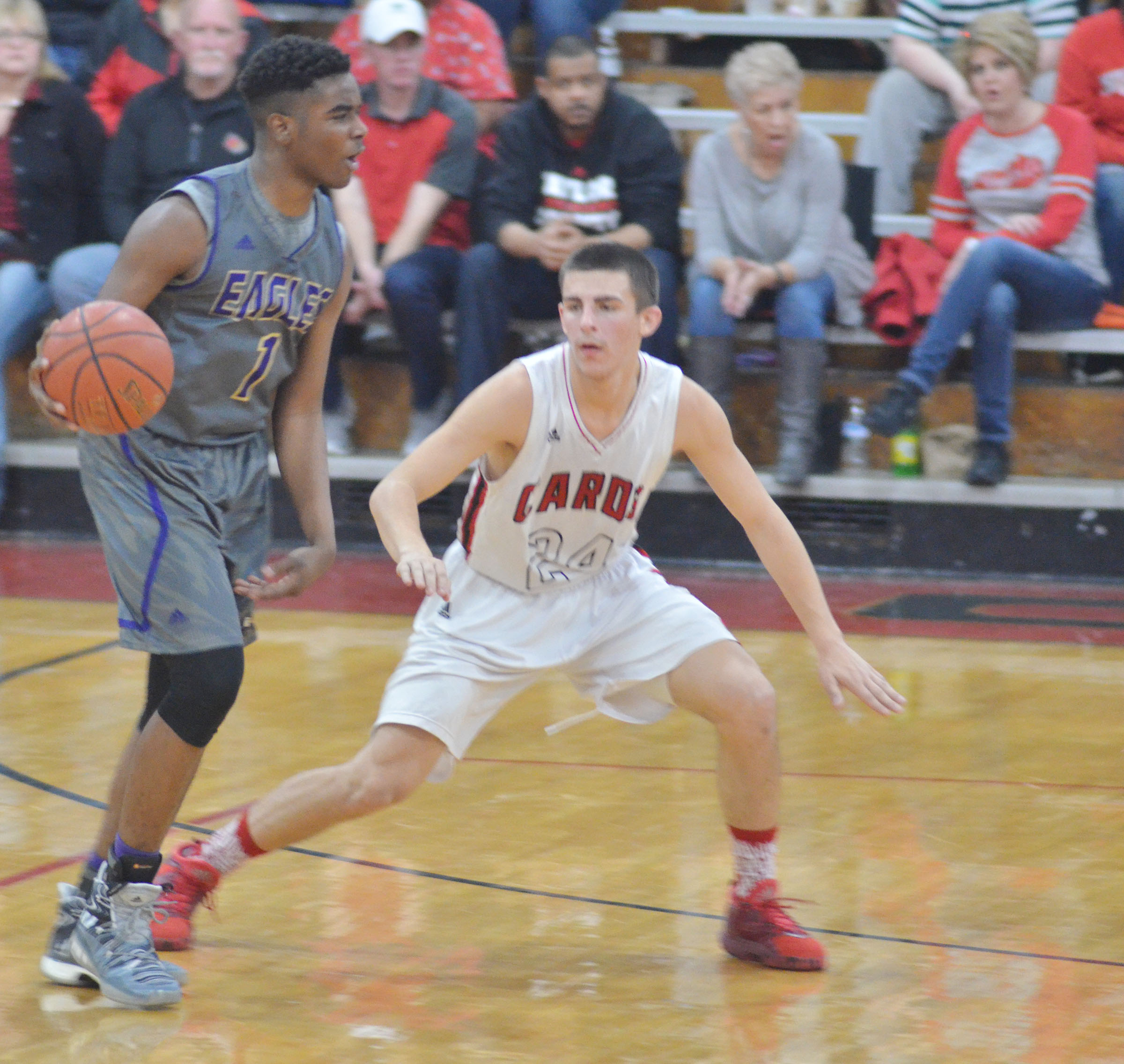 CHS junior Chanson Atkinson dribbles.
