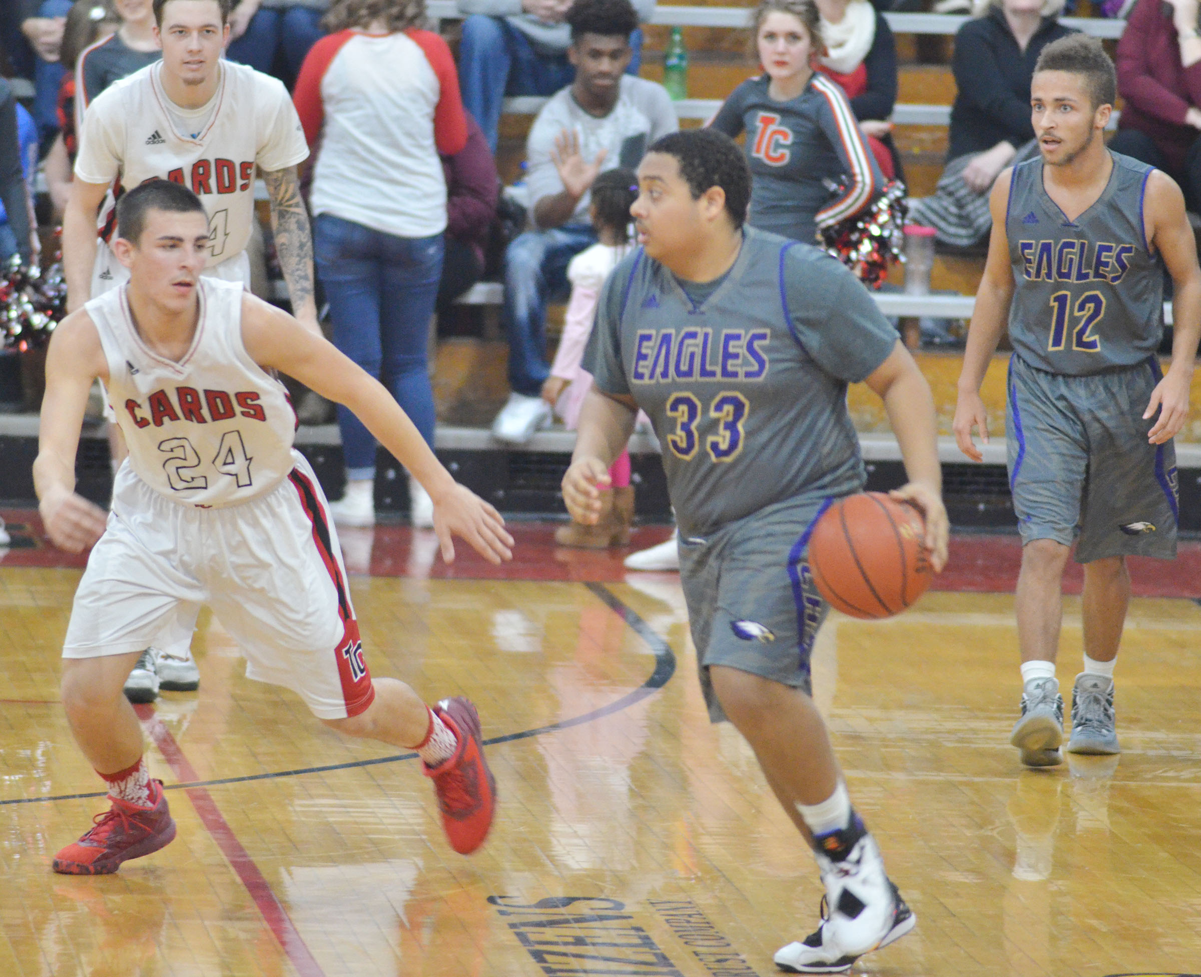 CHS senior Ricky Smith-Cecil dribbles.