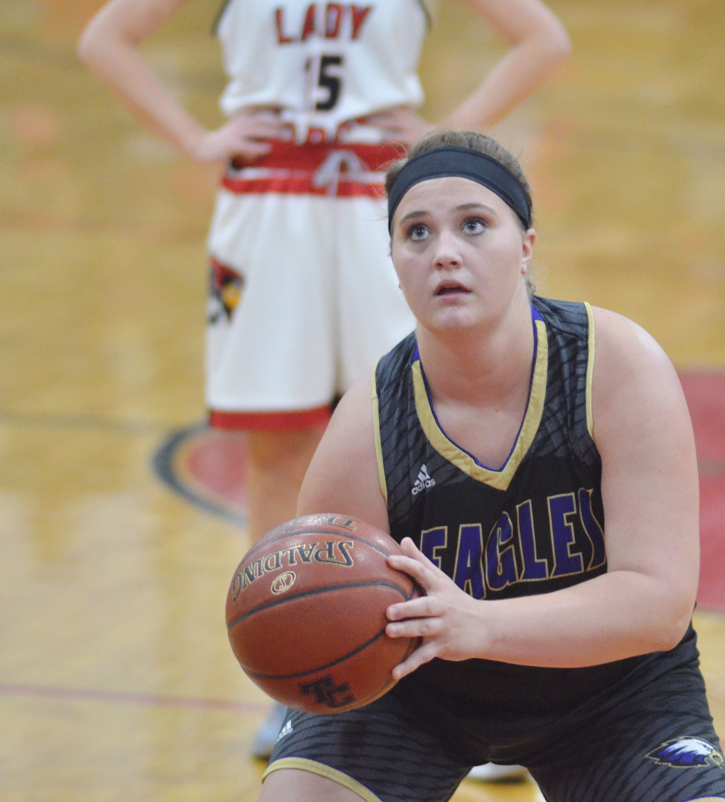 CHS senior Brenna Wethington shoots the ball.