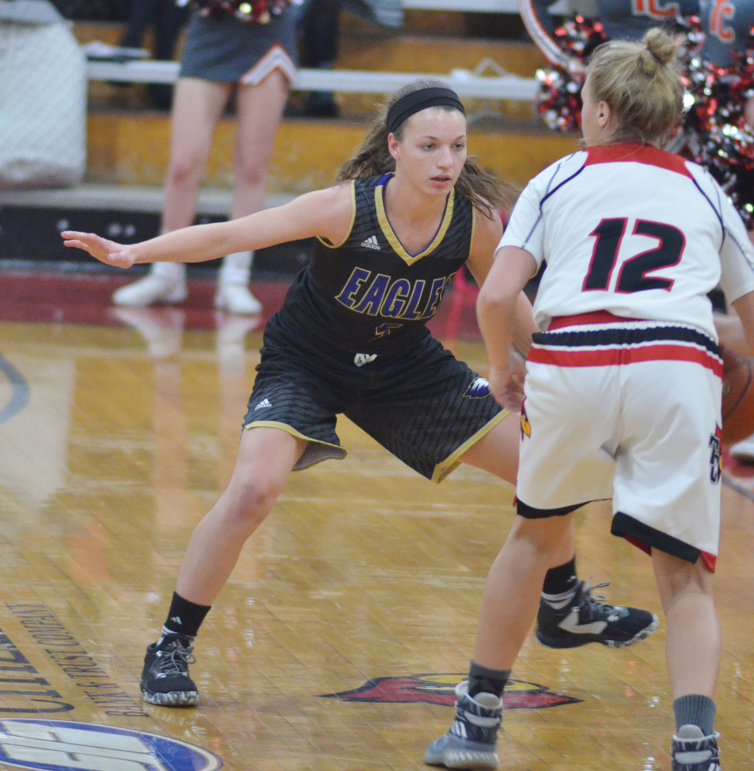 CHS senior Caylie Blair plays defense.