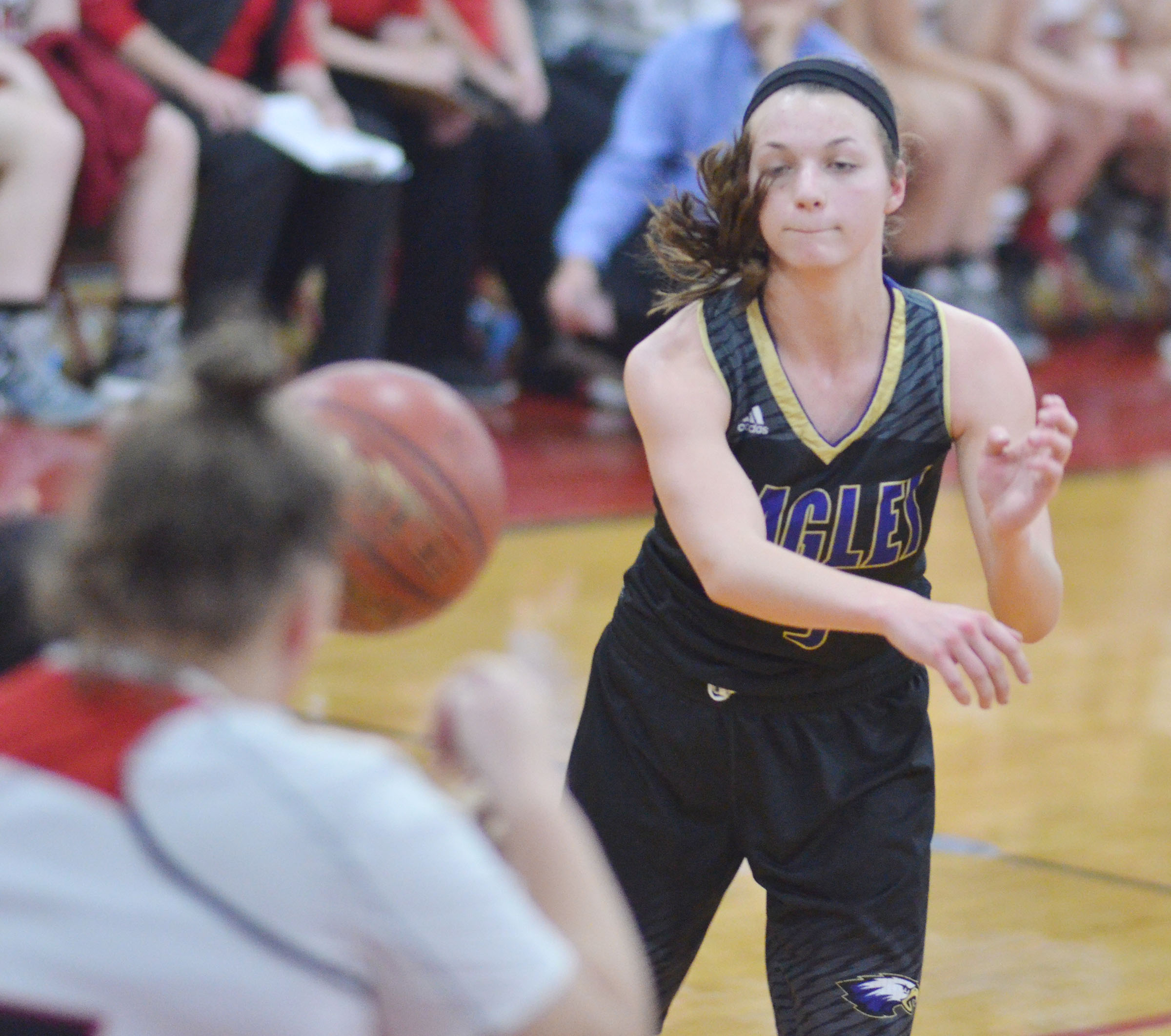 CHS senior Caylie Blair passes the ball.