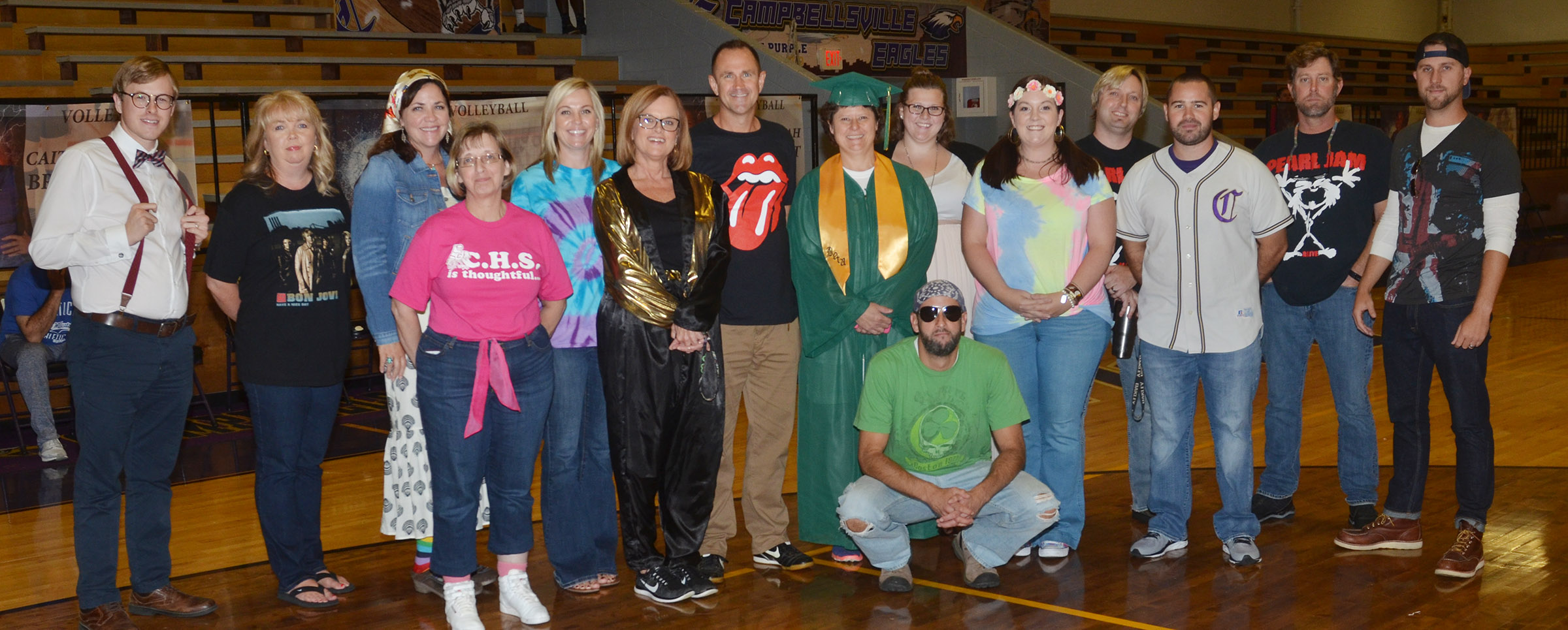 CHS staff members dress for Blast Through the Past Day.