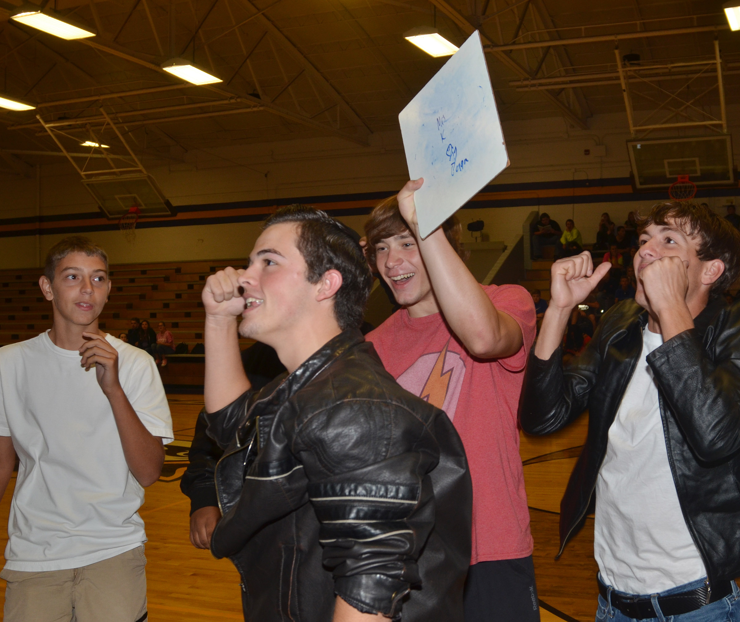 CHS students and teachers play the Name that Tune game.