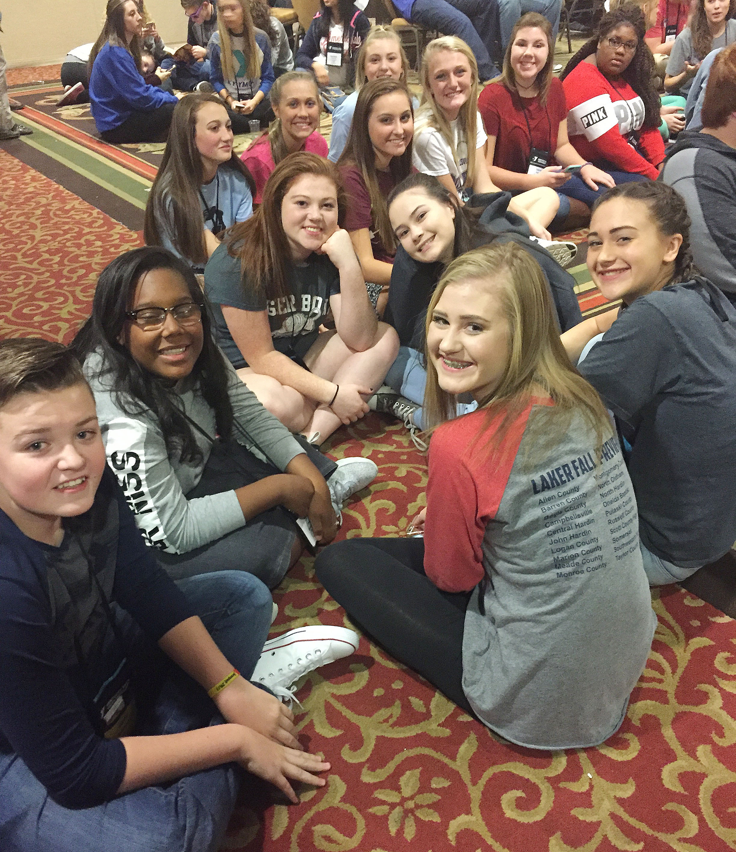 CHS Kentucky YMCA Youth Association members pose for a photo at the Kentucky Youth Assembly session.