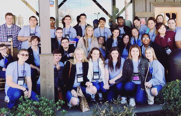 CHS Kentucky YMCA Youth Association members pose for a photo together.