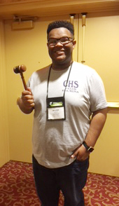Jeremiah Jackson, a junior, was elected to the Editor in Chief position. He also served as a media delegate.