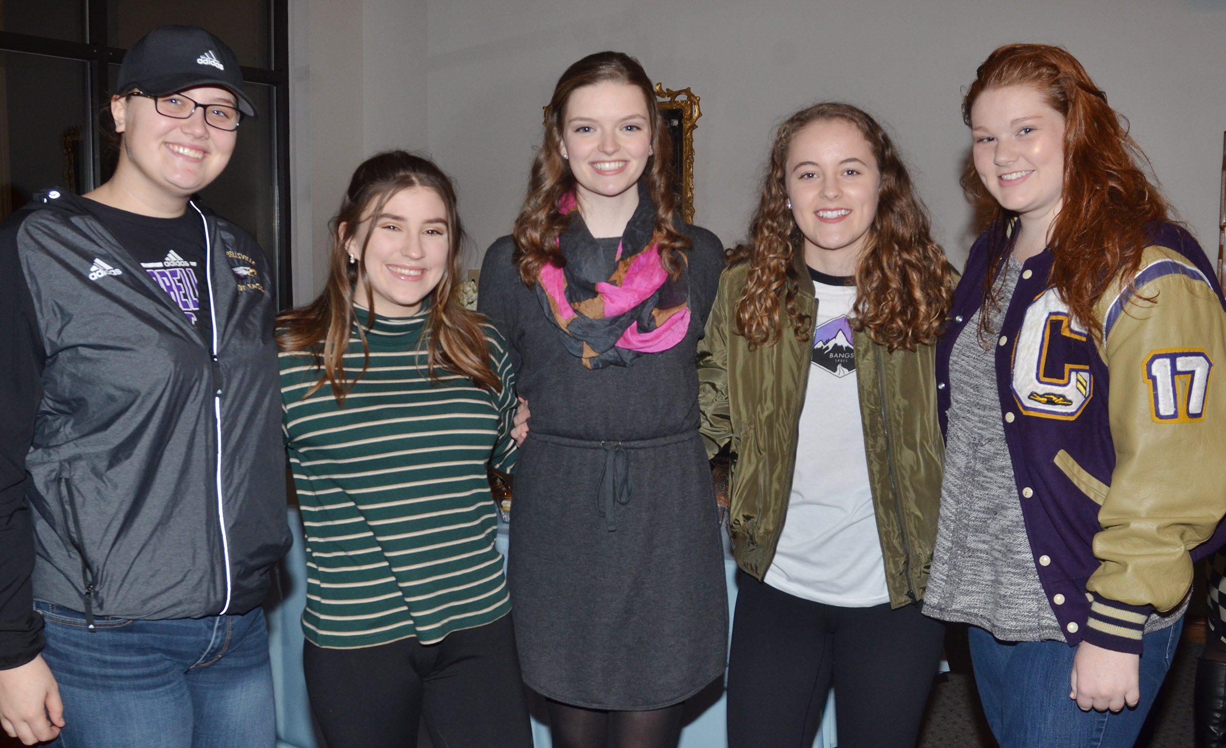 CHS senior Blair Lamb was honored at a reception on Friday, Jan. 6, before she left to compete in the Kentucky Distinguished Young Women competition. Lamb, center, is pictured with some of her friends.
