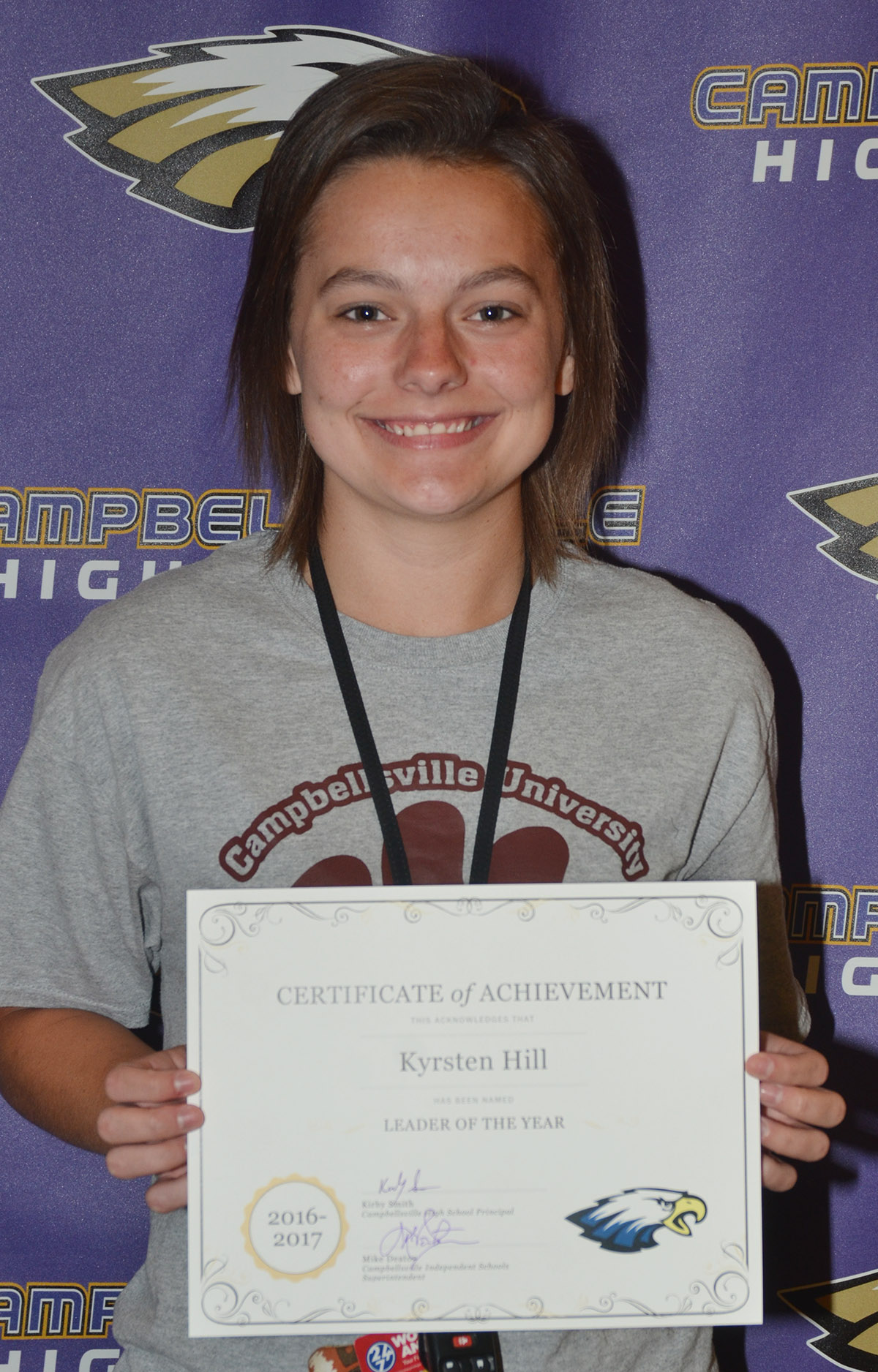 Kyrsten Hill was recently chosen as the Leader of the Year for the senior class in the 2016-2017 school year.