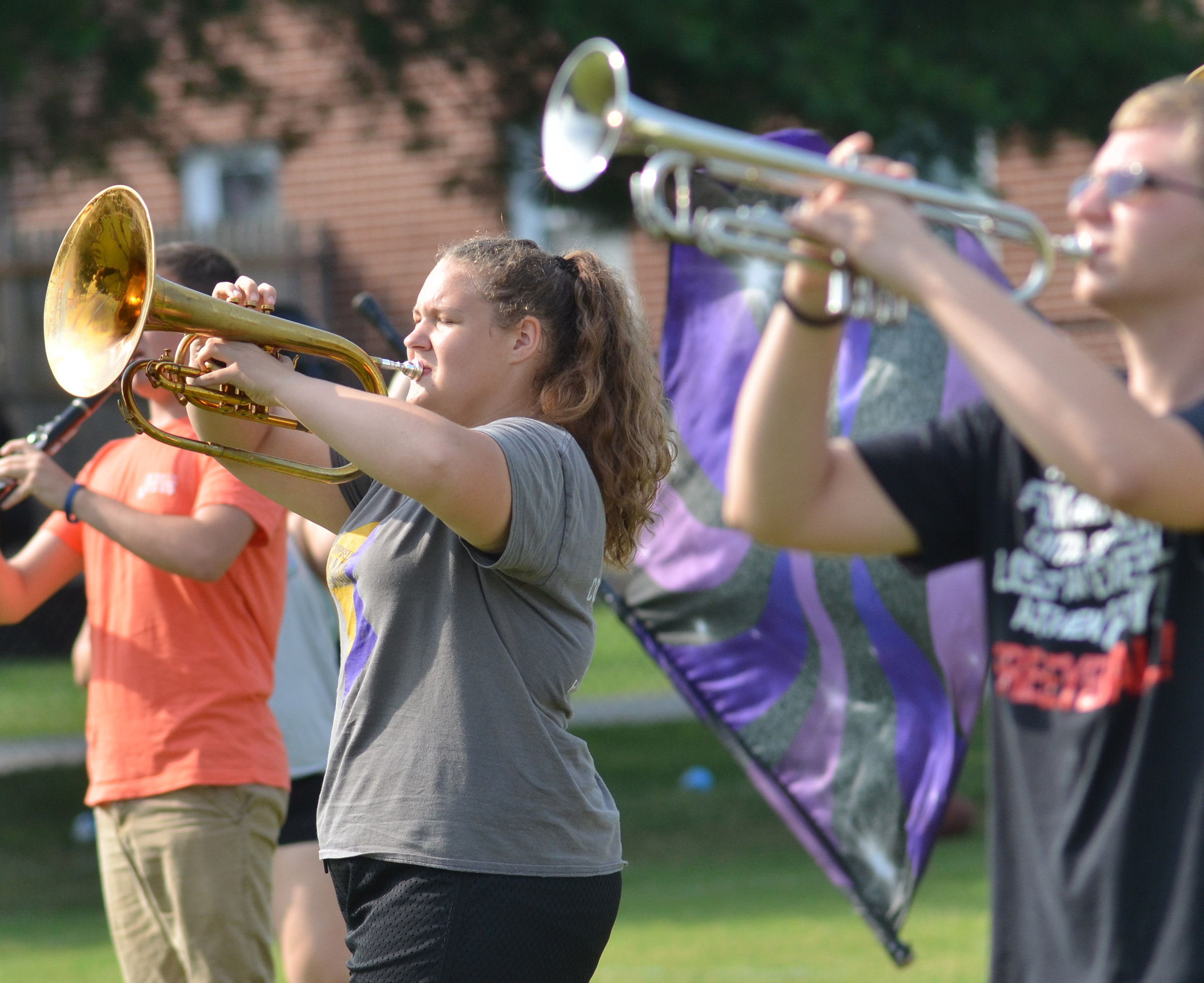 CHS sophomore Abie Angel plays horn.