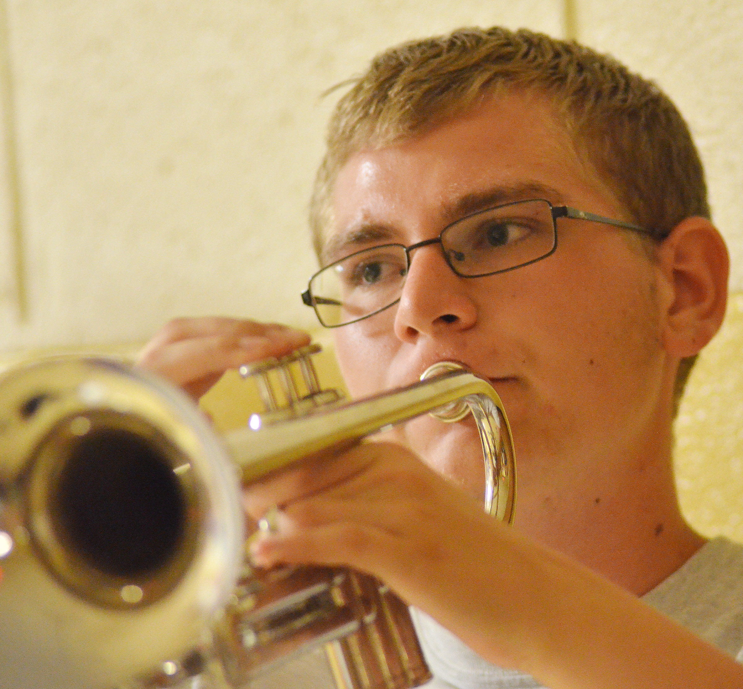 CHS junior Brandon Greer plays trumpet.