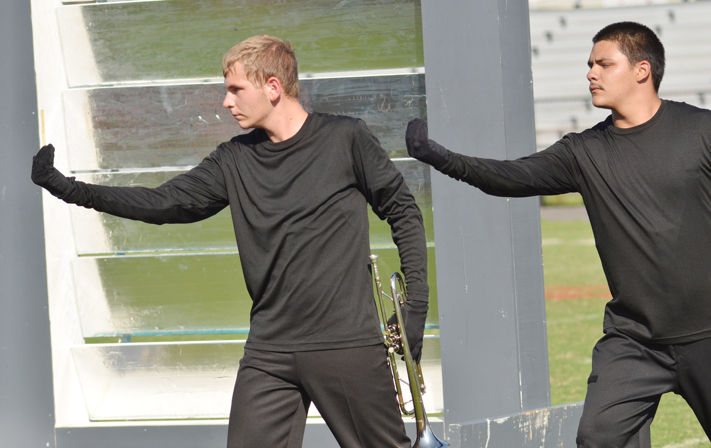 CHS juniors Brandon Greer, at left, and Nick Cowan perform.