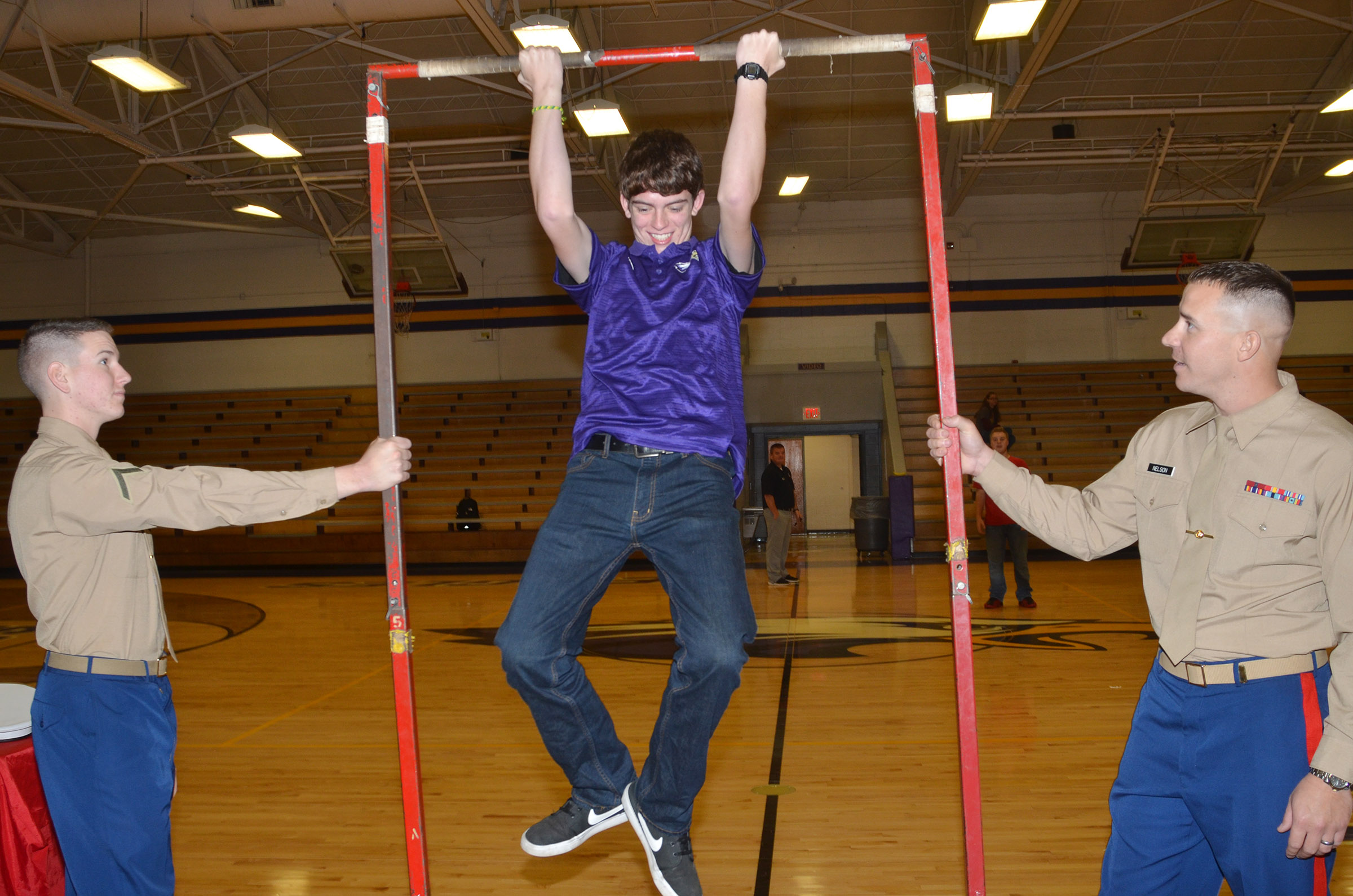 CHS senior Murphy Lamb does a pull up.