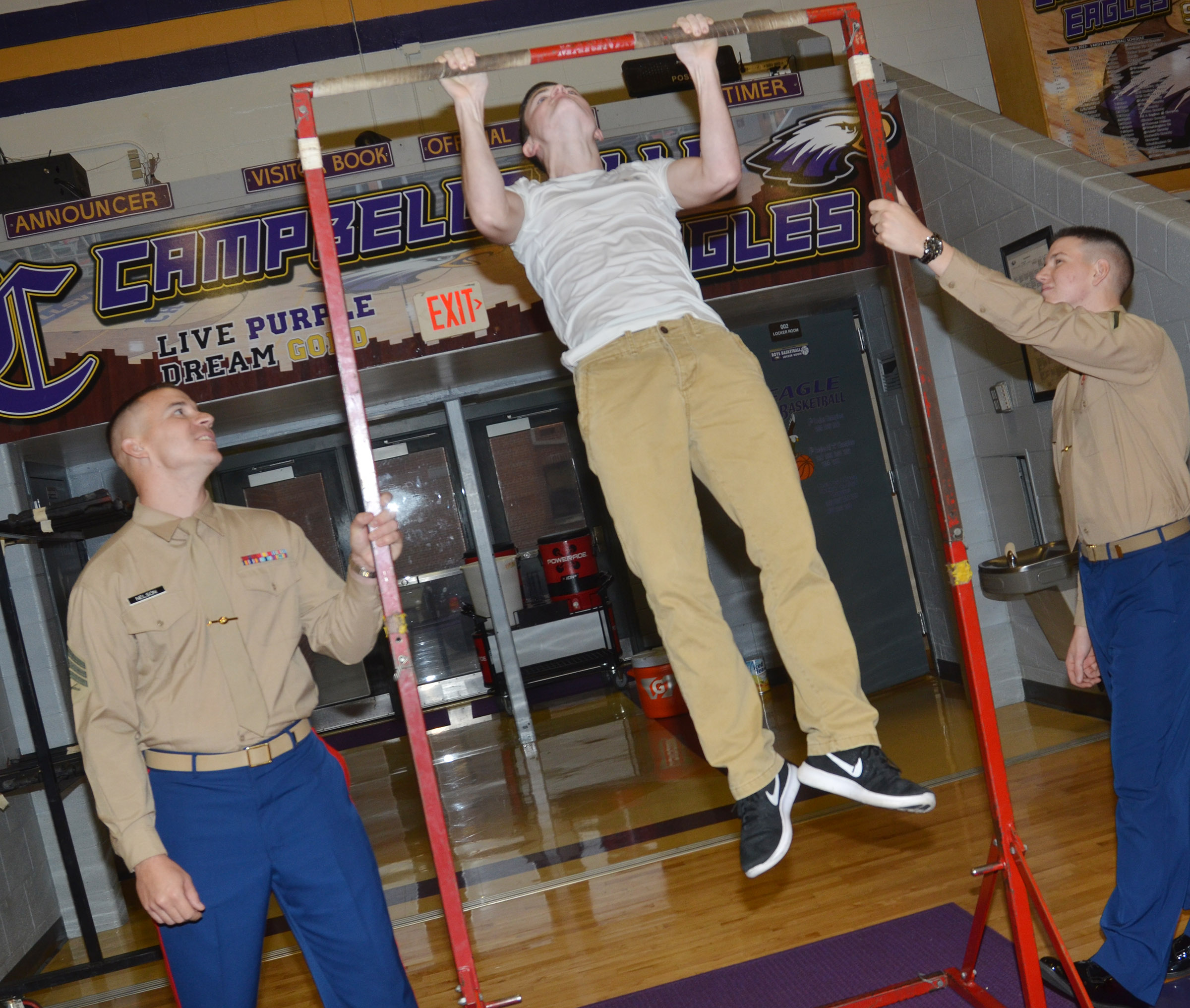 CHS junior Bryce Richardson did 20 pull ups.