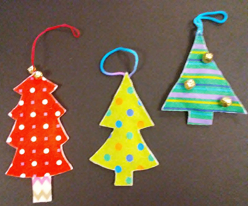 Campbellsville High School National Art Honor Society members are selling hand-made ornaments, like these, as a fundraiser.